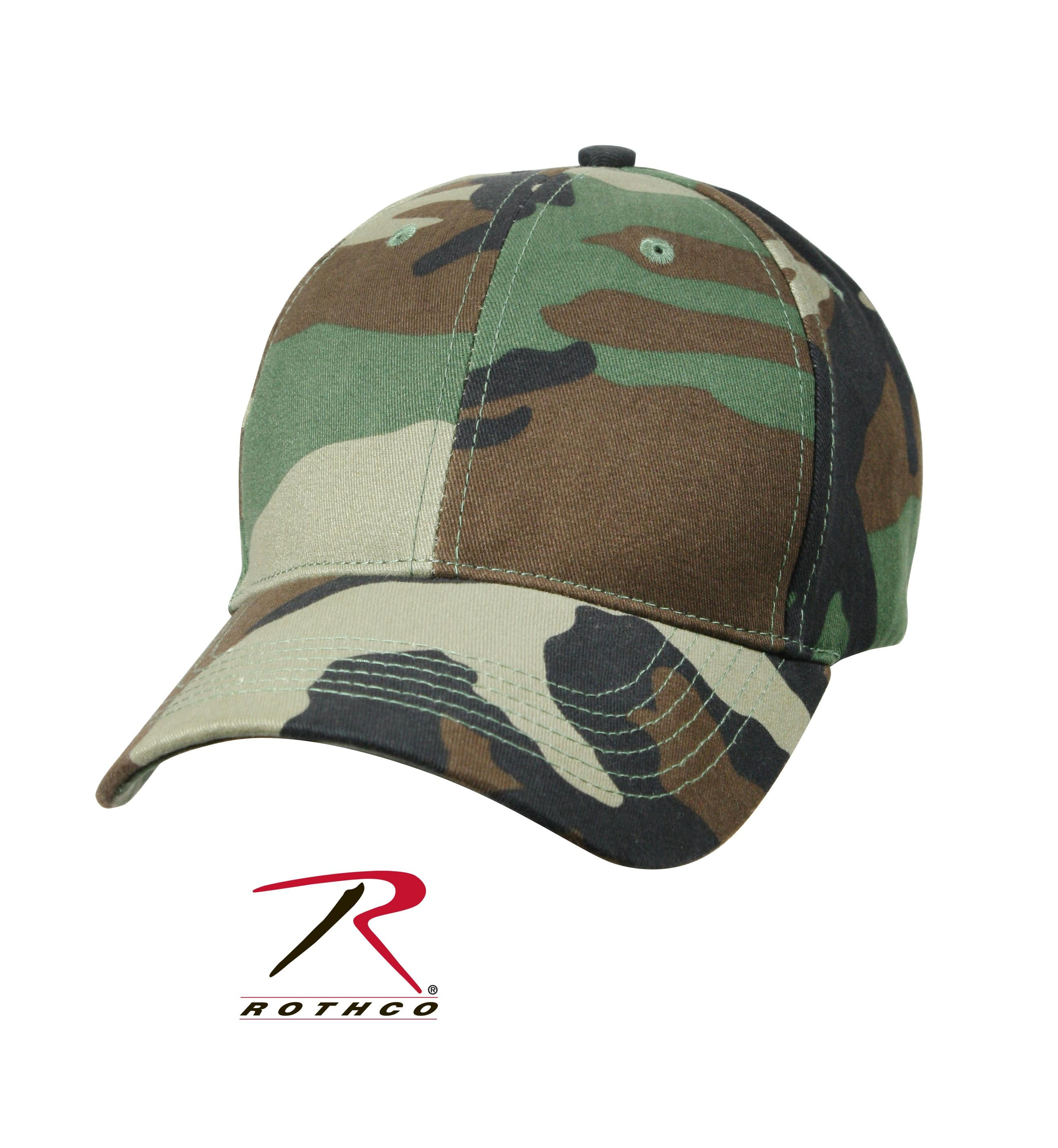 Rothco Supreme Camo Low Profile Cap - Woodland Camo / One Size