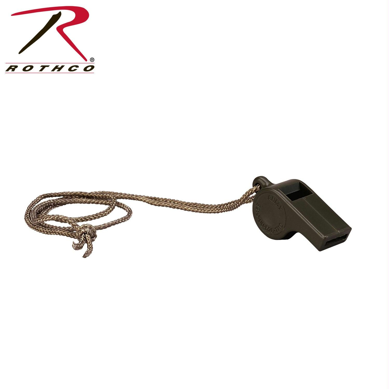 Rothco G.I. Style Police Whistle - Olive Drab
