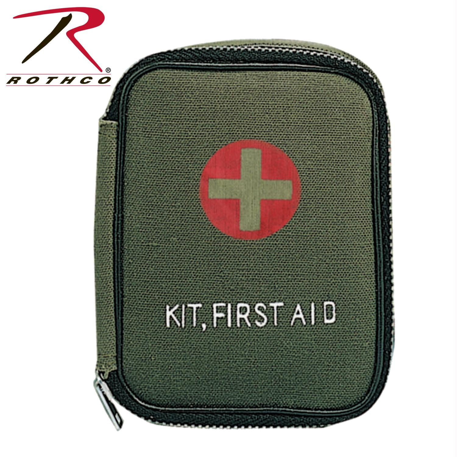 Rothco Military Zipper First Aid Kit Pouch - Olive Drab