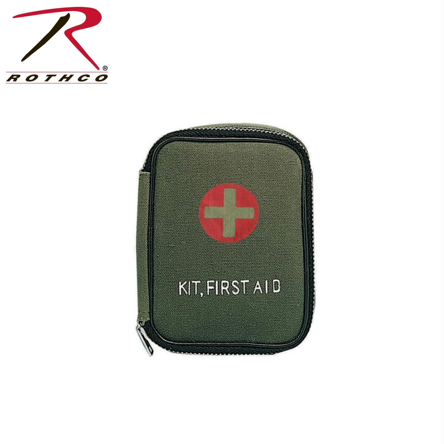 Rothco Military Zipper First Aid Kit - Olive Drab