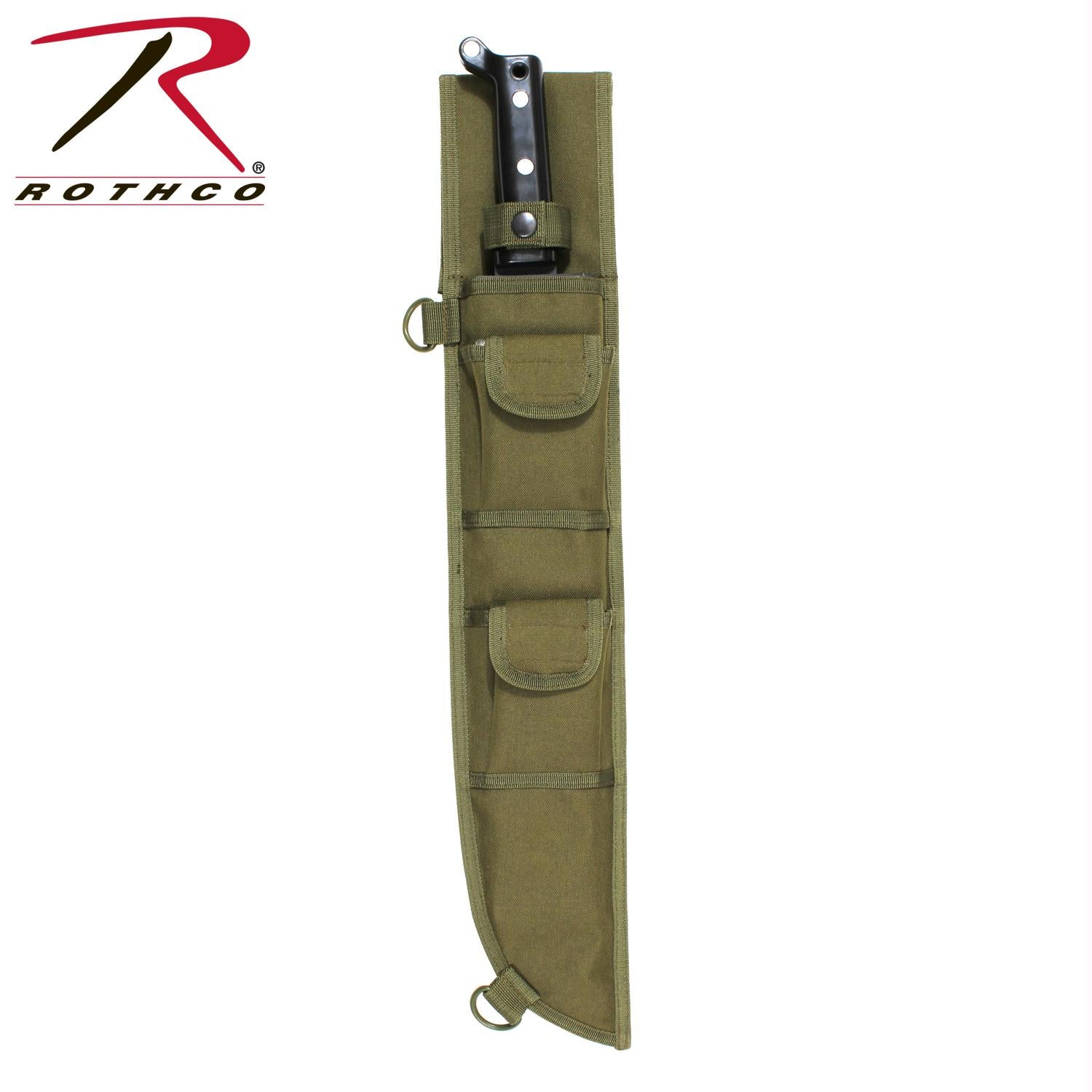 Rothco 18 Inch MOLLE Compatible Machete Sheath - Olive Drab