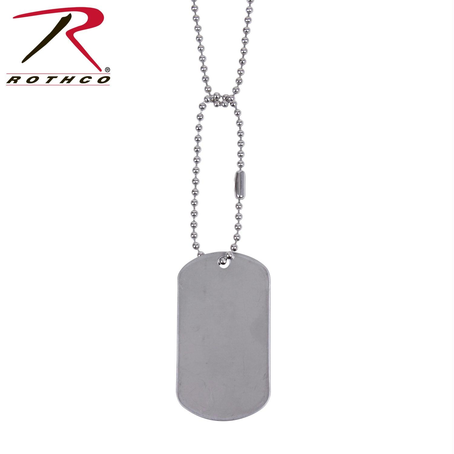 Rothco G.I. Type Dog Tag - Silver