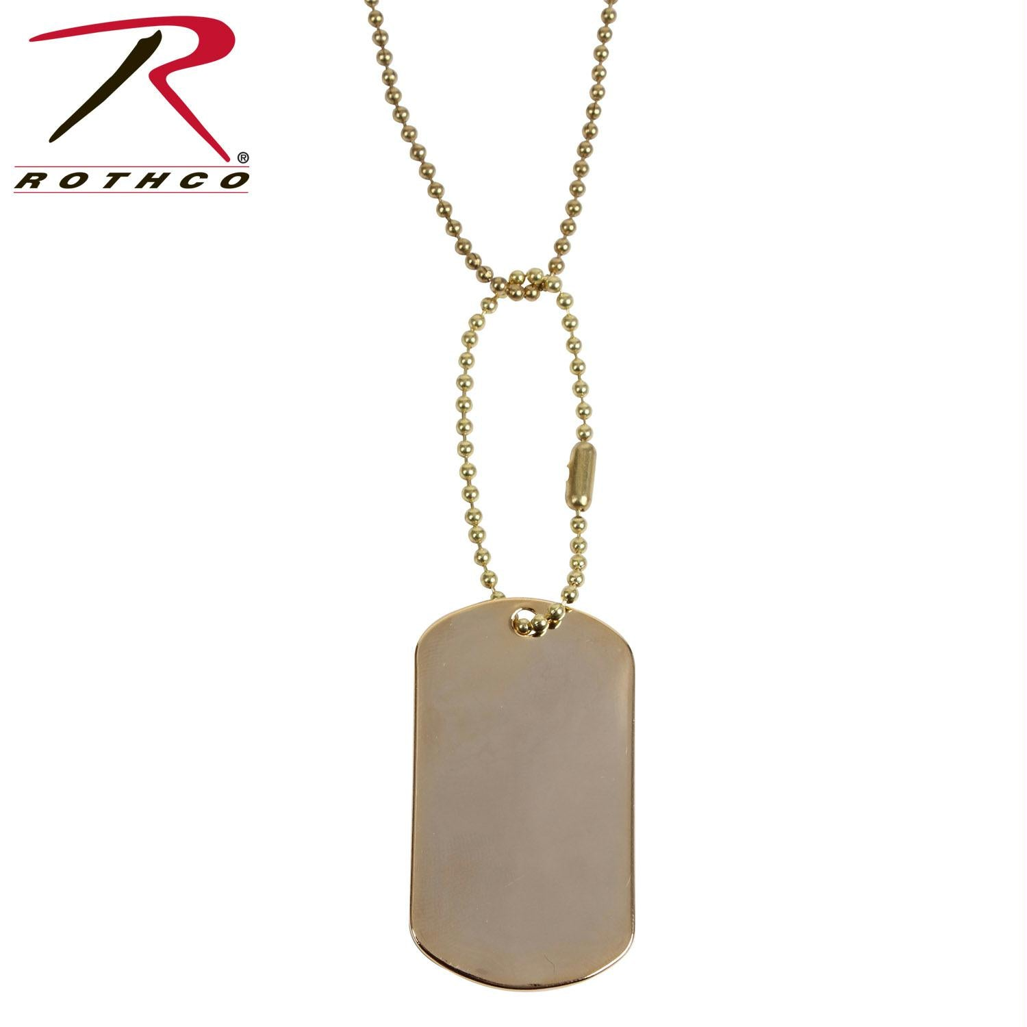 Rothco G.I. Type Dog Tag - Gold