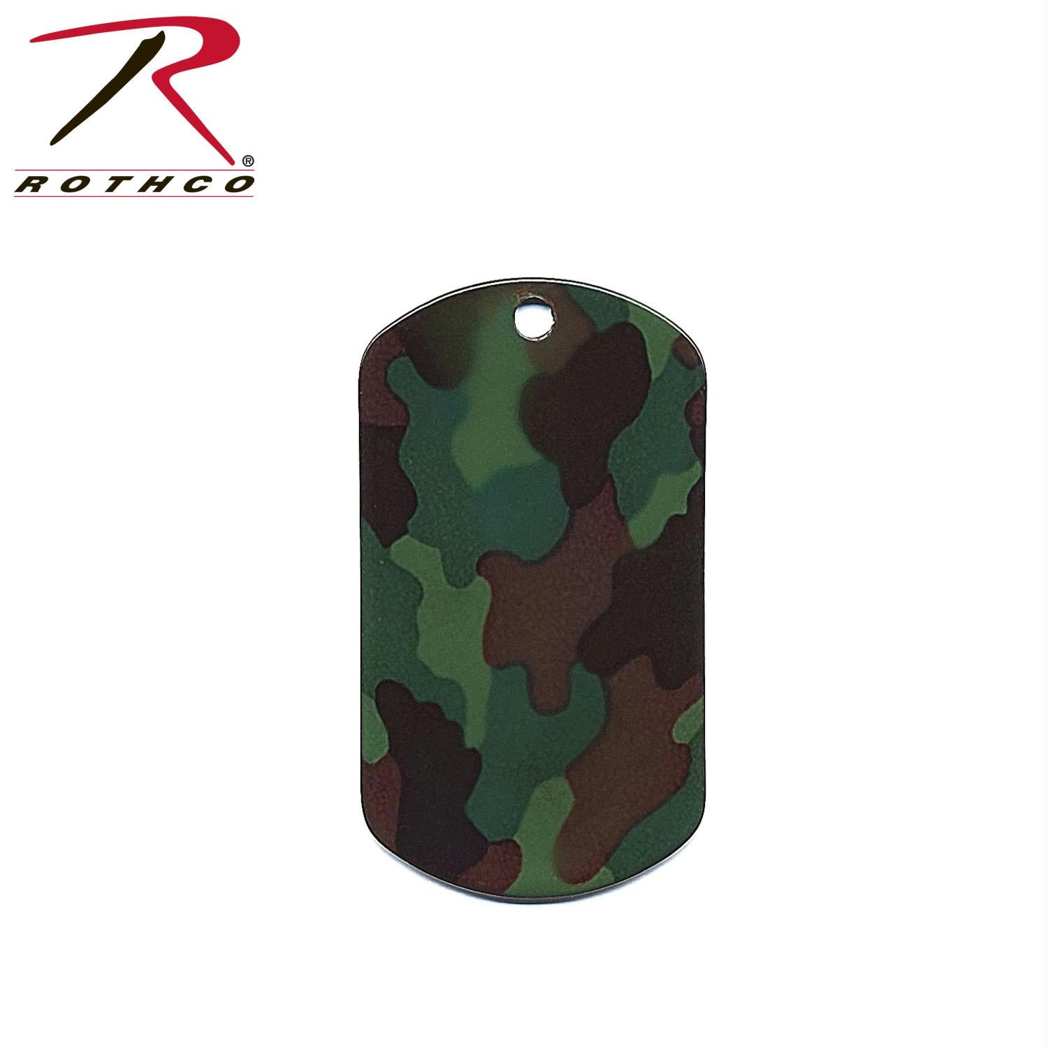 Rothco Camo Dog Tags - Woodland Camo