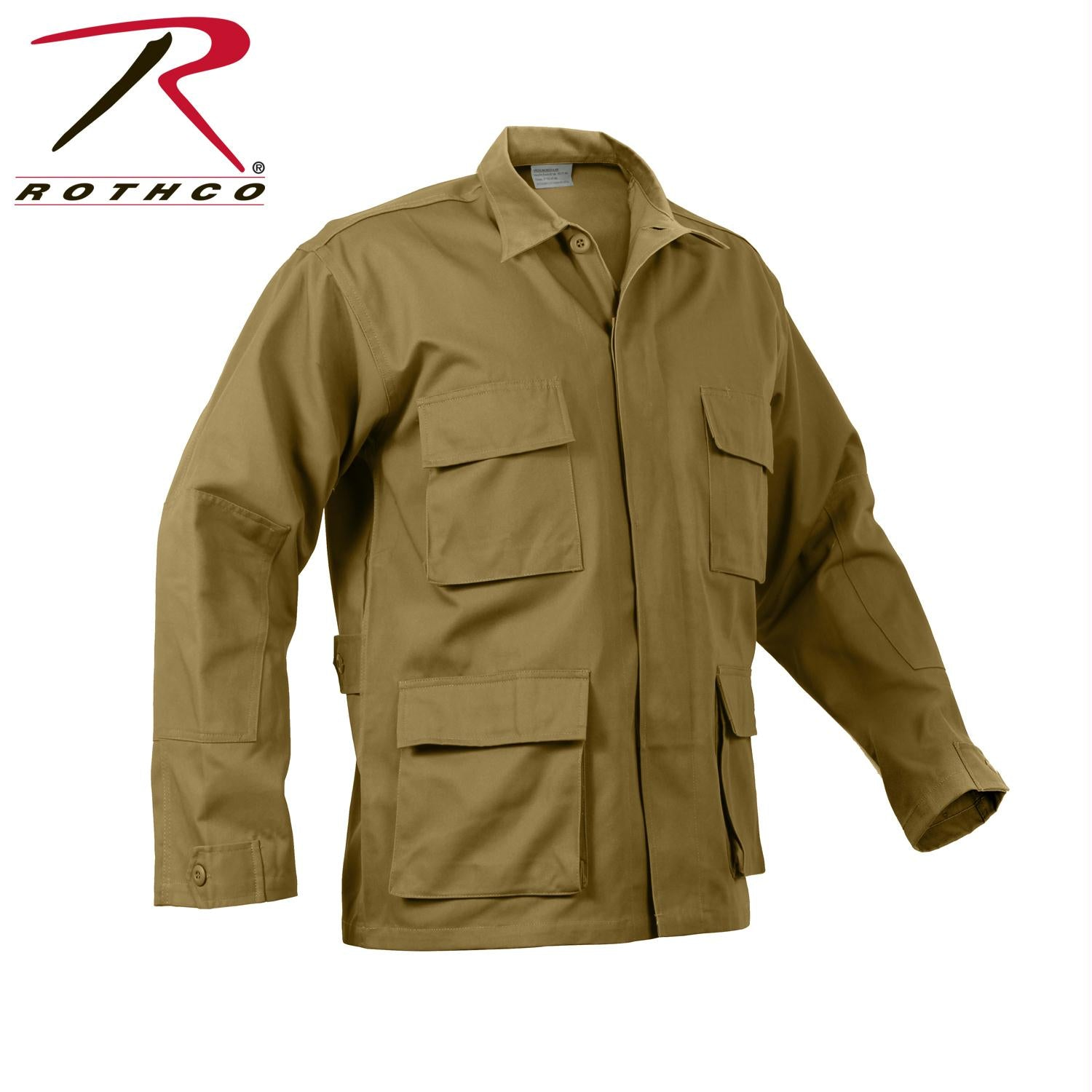 Rothco Poly/Cotton Twill Solid BDU Shirts - Coyote Brown / XL