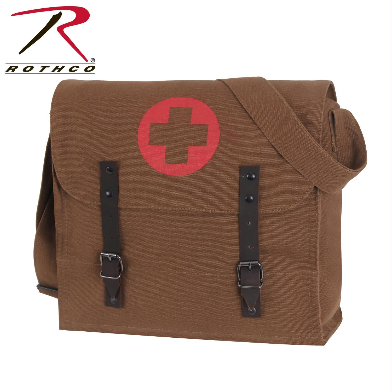 Rothco Vintage Medic Bag w/ Cross - Brown