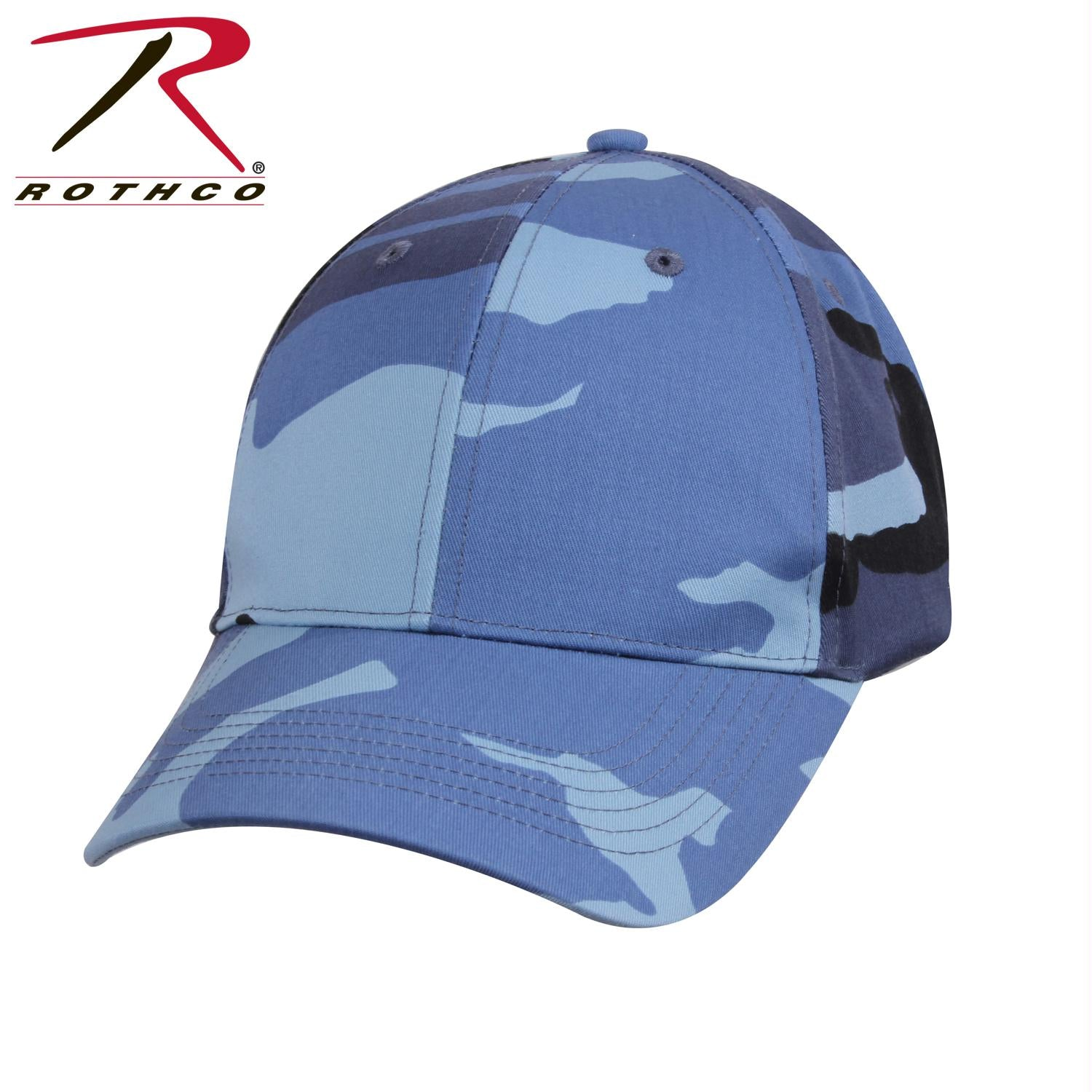 Rothco Supreme Camo Low Profile Cap - Sky Blue Camo / One Size