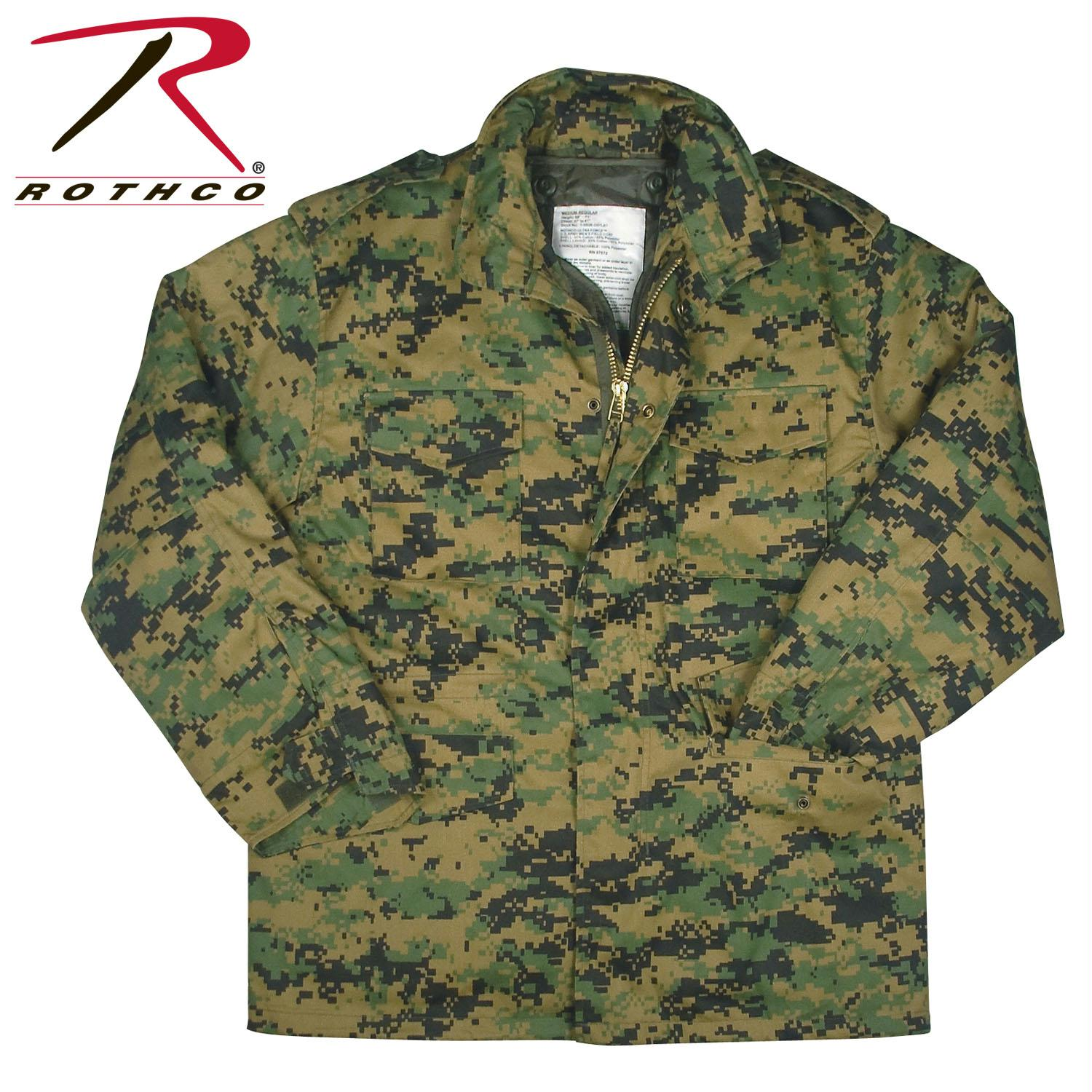 Rothco M-65 Camo Field Jacket - Woodland Digital Camo / L