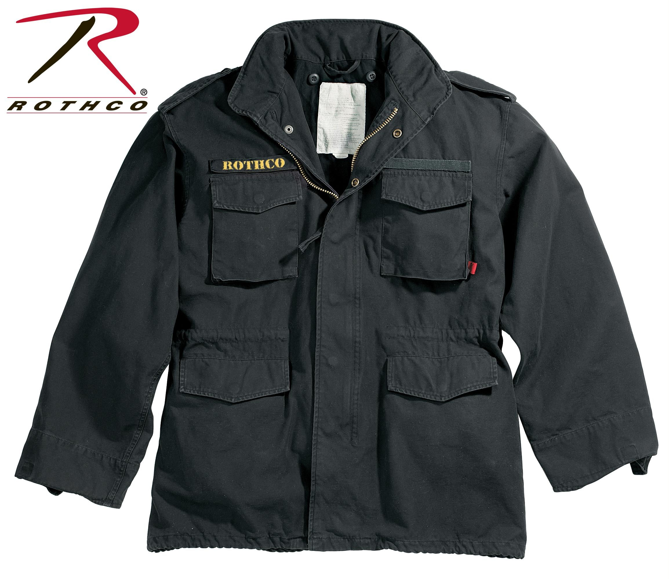 Rothco Vintage M-65 Field Jackets - Black / S