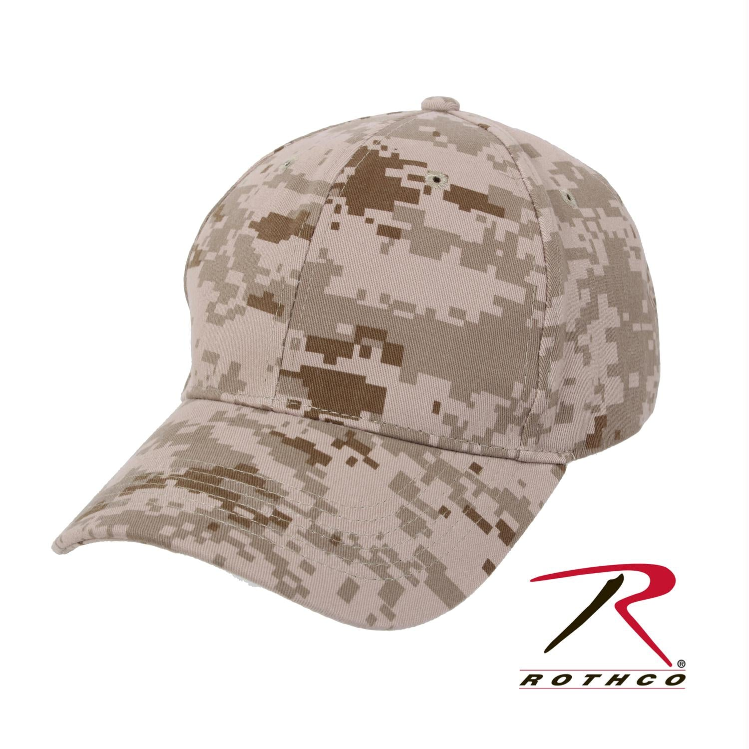 Rothco Supreme Camo Low Profile Cap - Desert Digital Camo / One Size