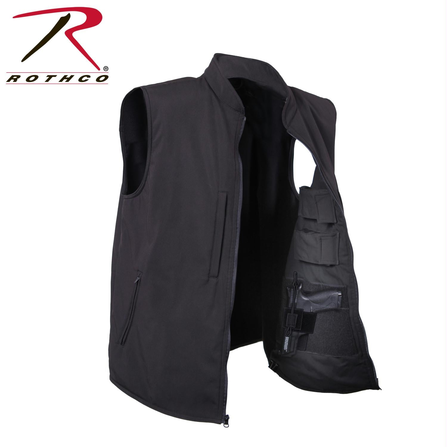 Rothco Concealed Carry Soft Shell Vest - Black / S