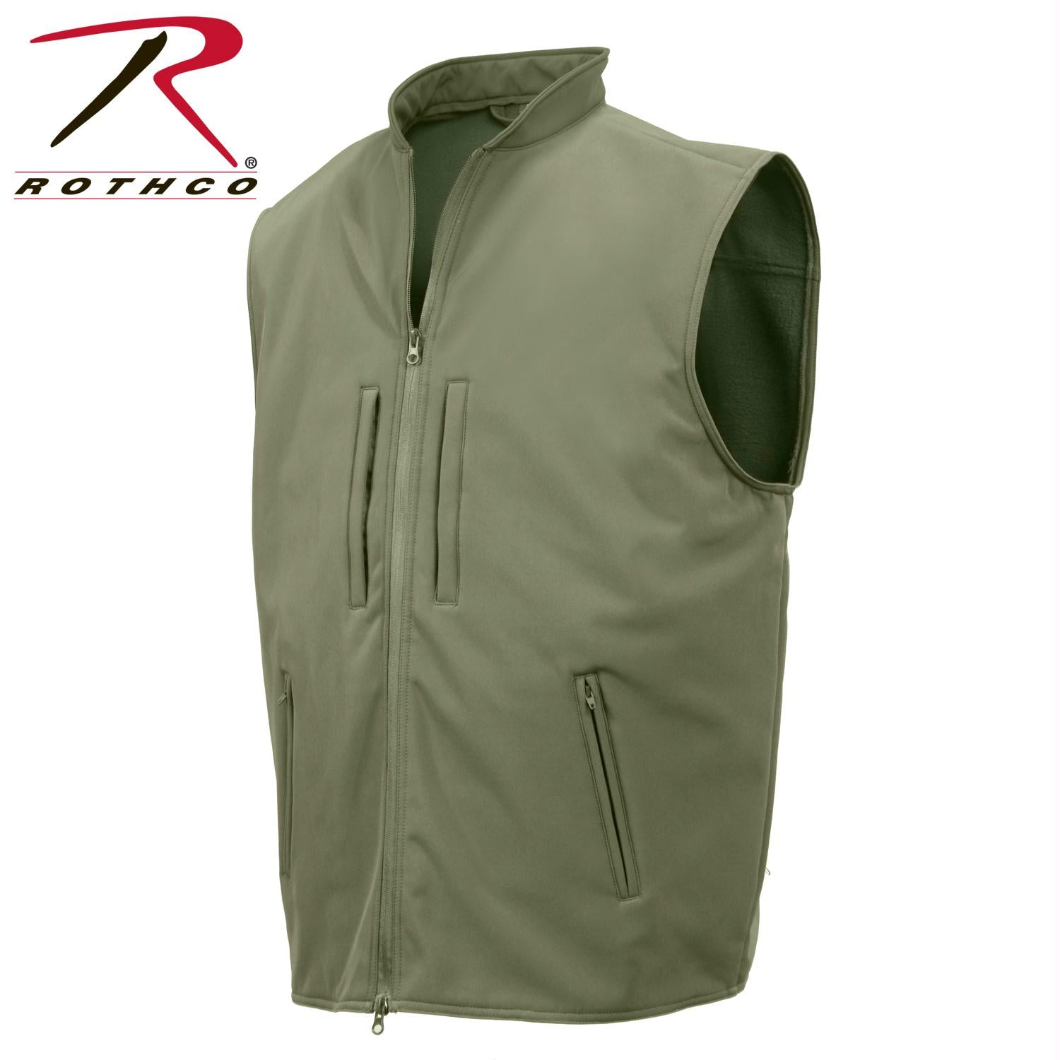 Rothco Concealed Carry Soft Shell Vest - Olive Drab / XL
