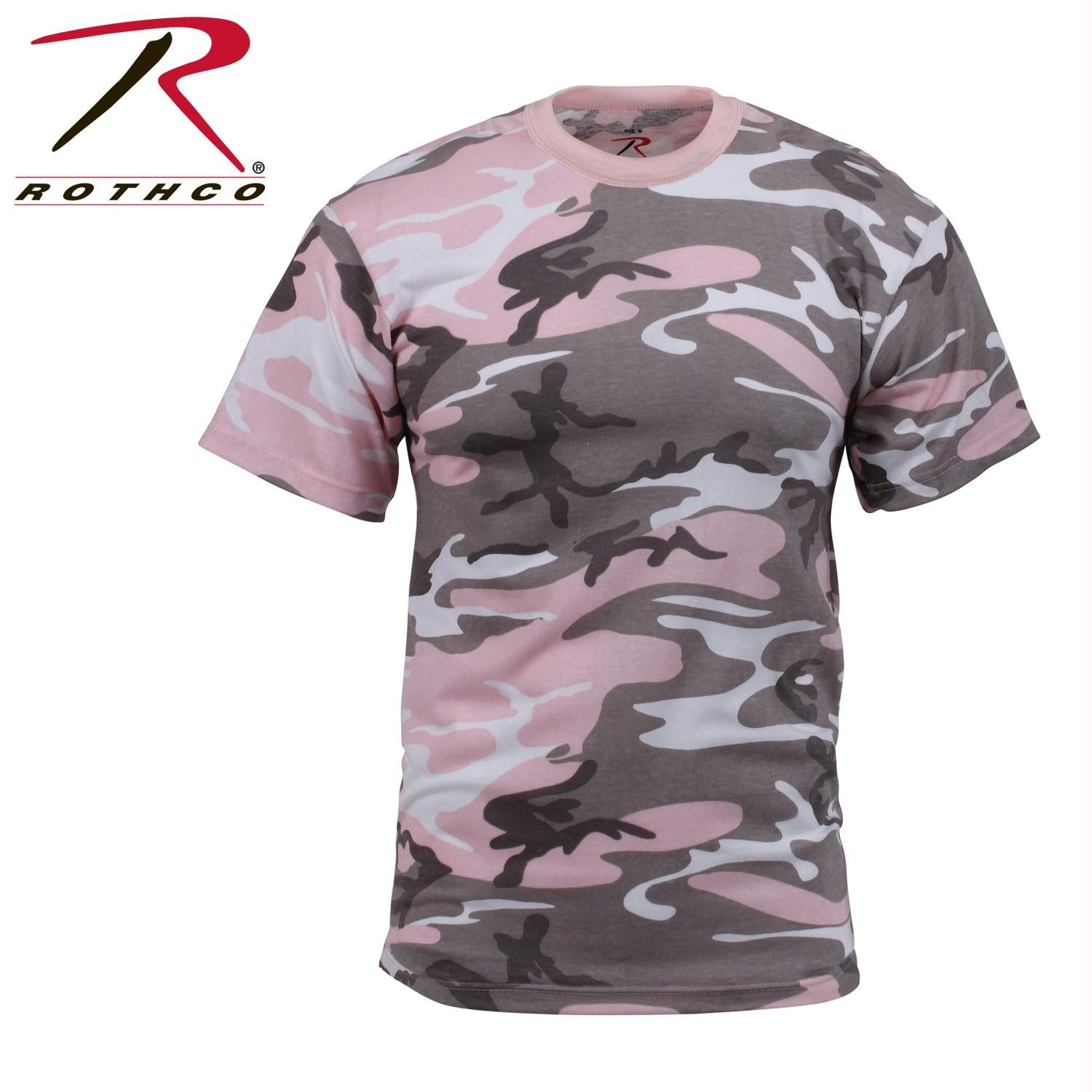 Rothco Colored Camo T-Shirts - Subdued Pink Camo / M