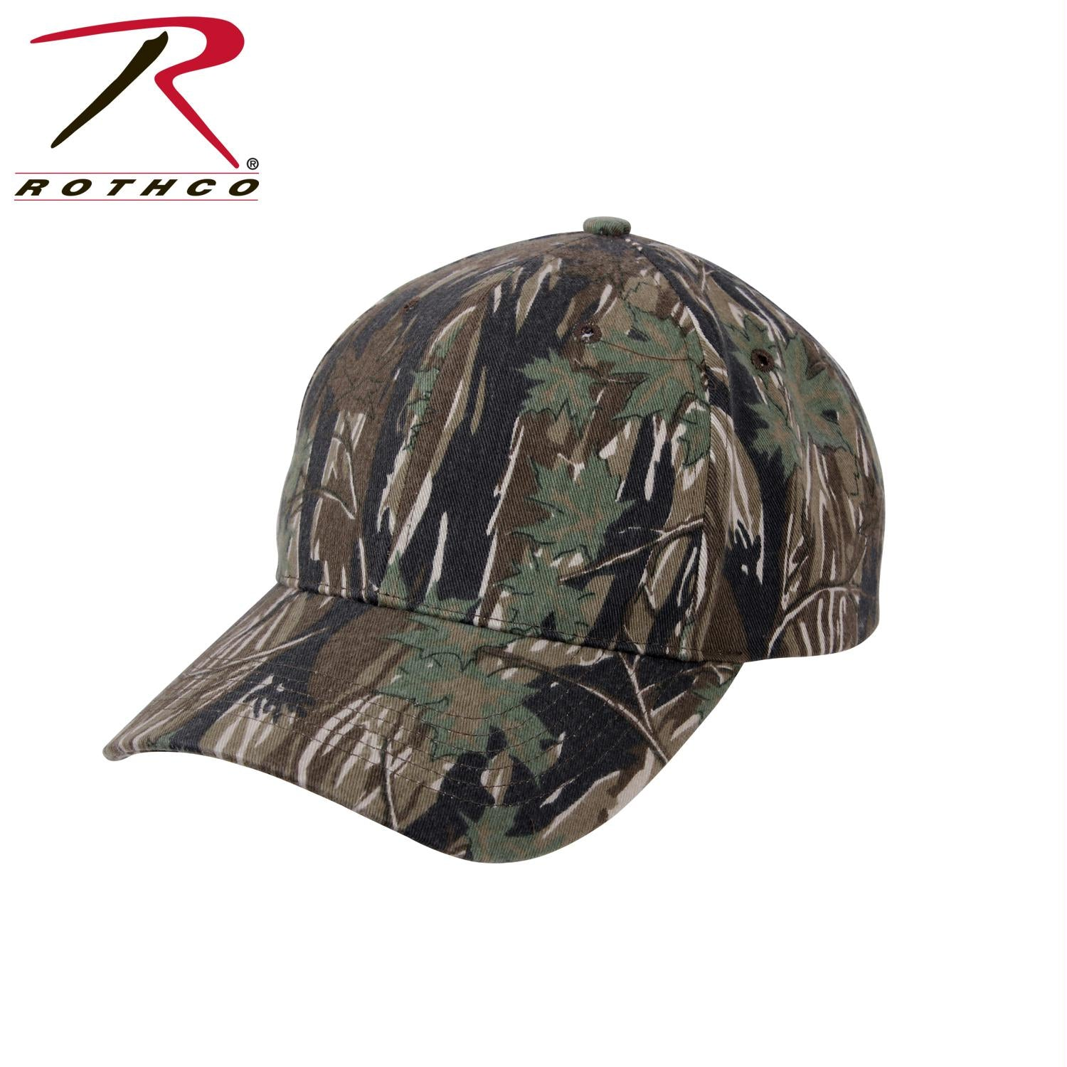 Rothco Supreme Camo Low Profile Cap - Smokey Branch Camo / One Size