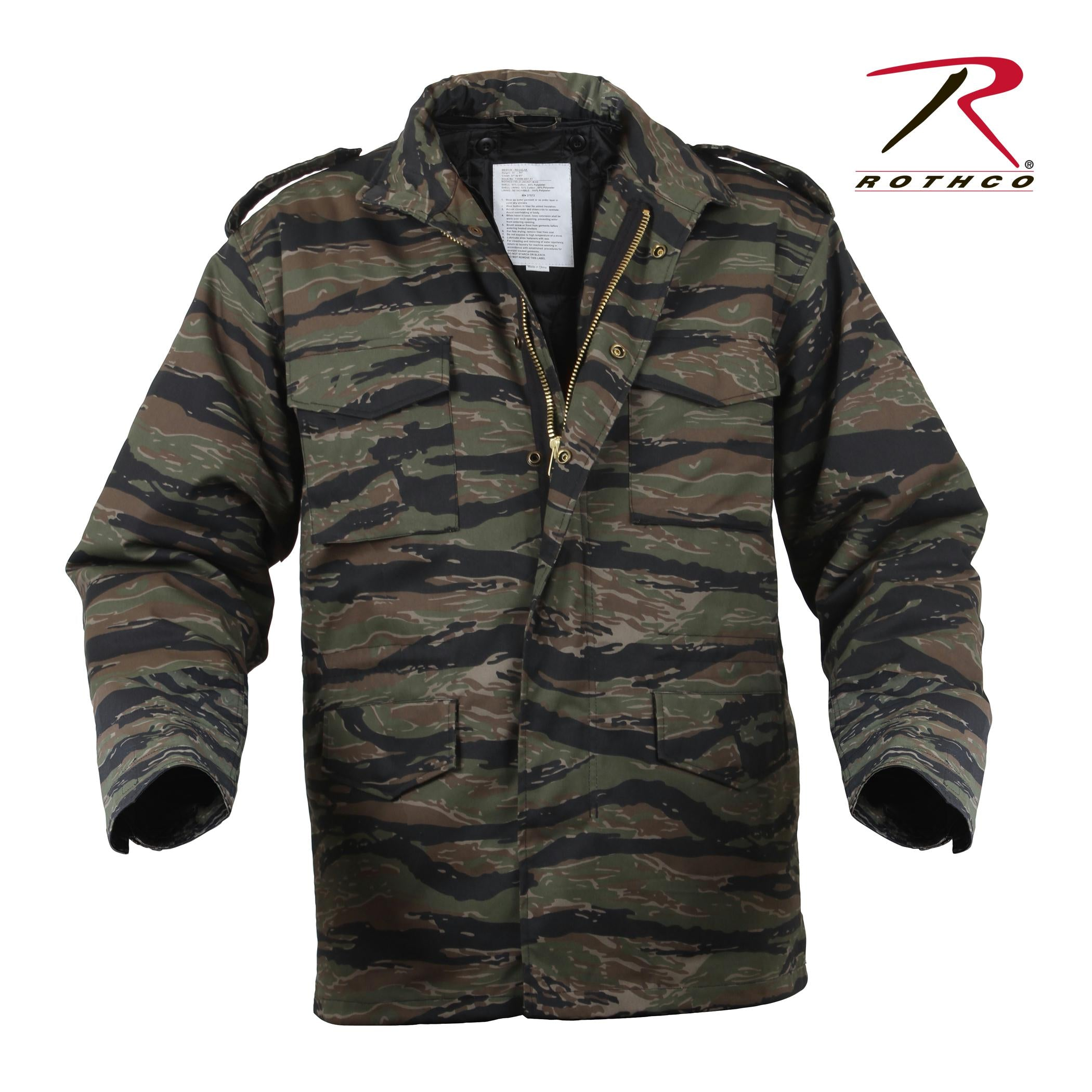 Rothco M-65 Camo Field Jacket - Tiger Stripe Camo / M