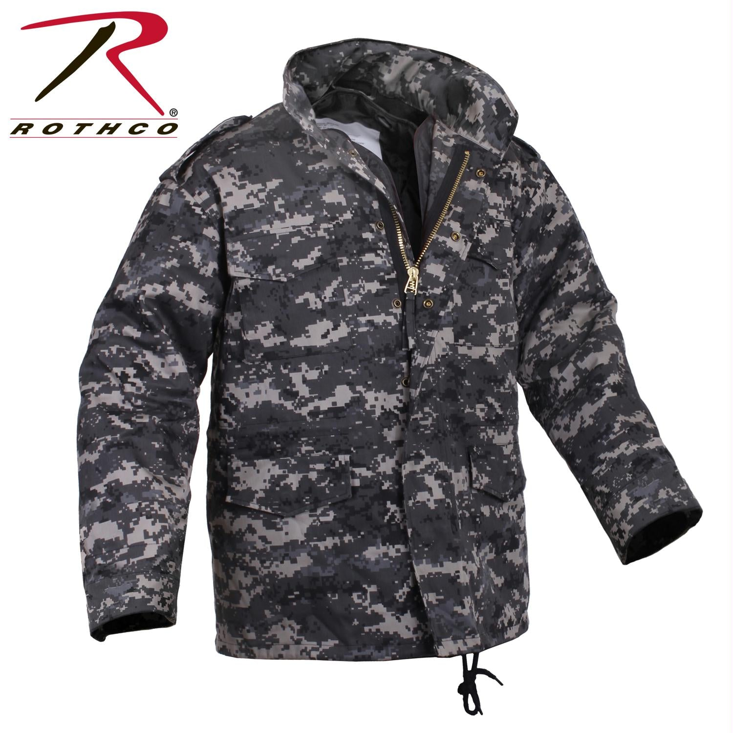 Rothco M-65 Camo Field Jacket - Subdued Urban Digital Camo / XL