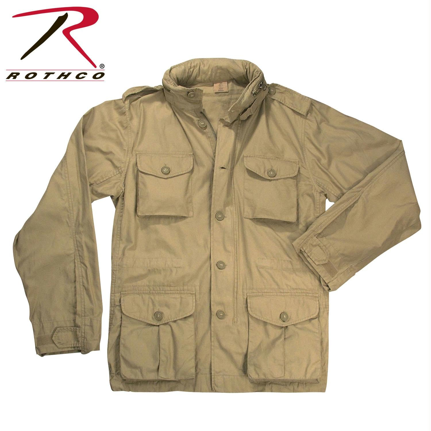 Rothco Vintage Lightweight M-65 Field Jacket - Khaki / XS