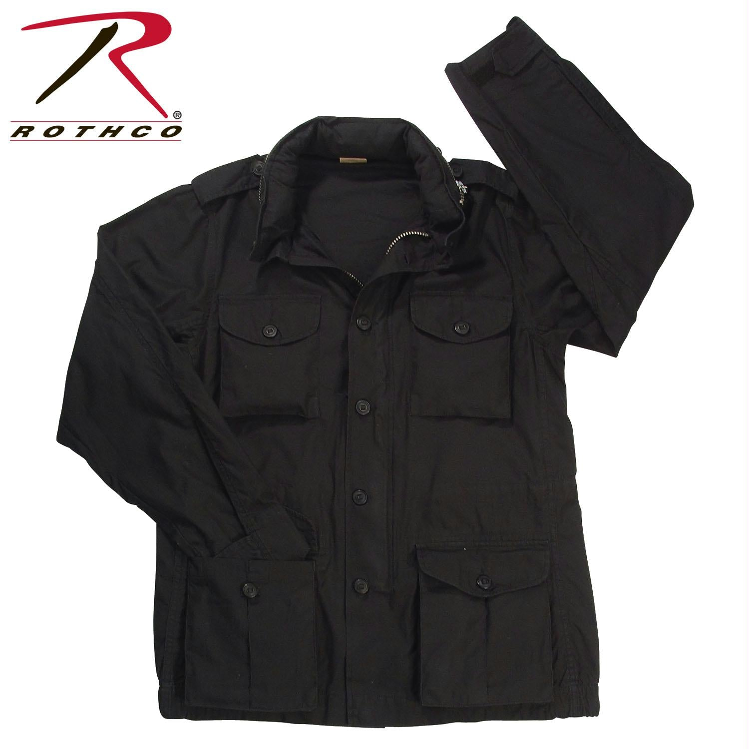 Rothco Vintage Lightweight M-65 Field Jacket - Black / XS