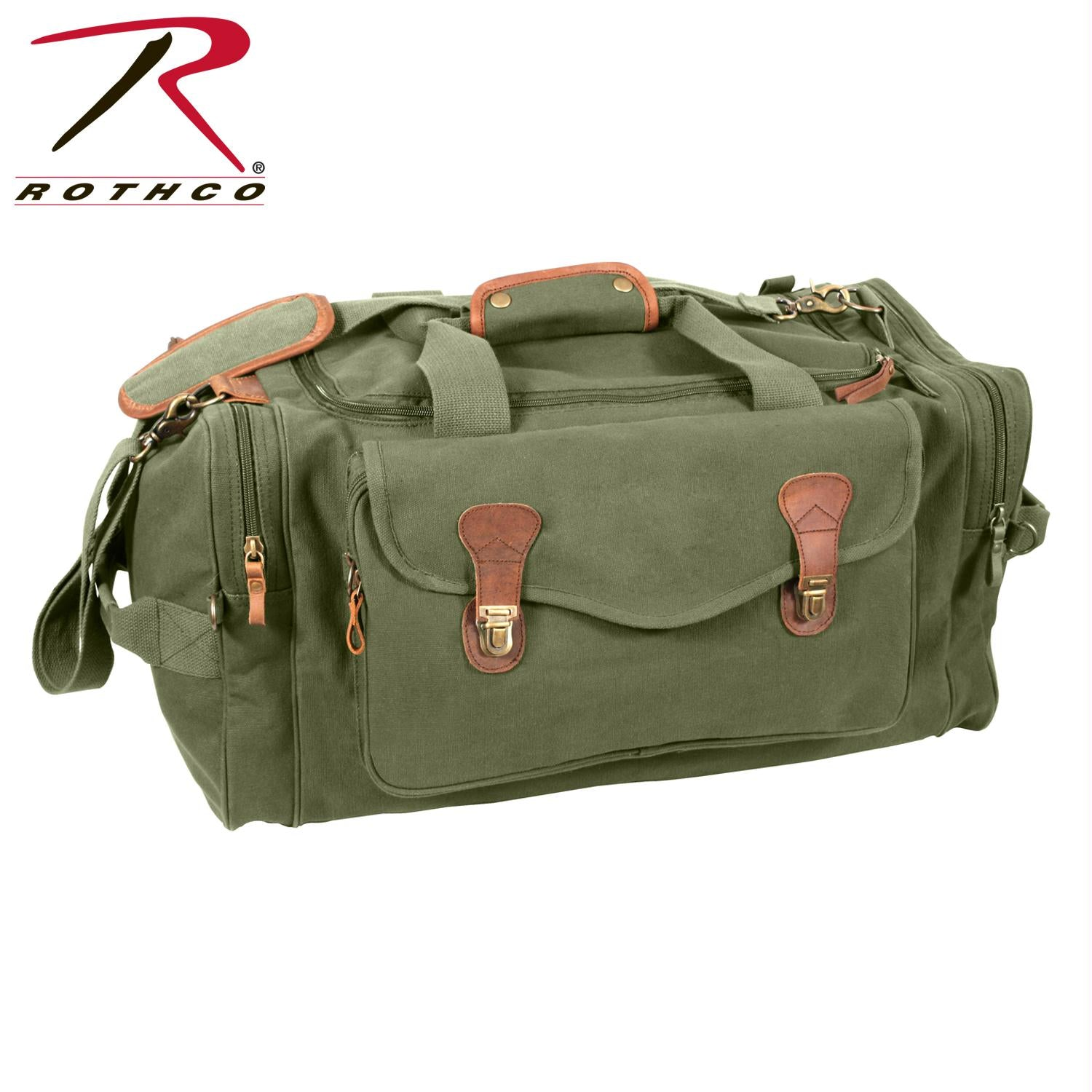 Rothco Canvas Long Weekend Bag - Olive Drab