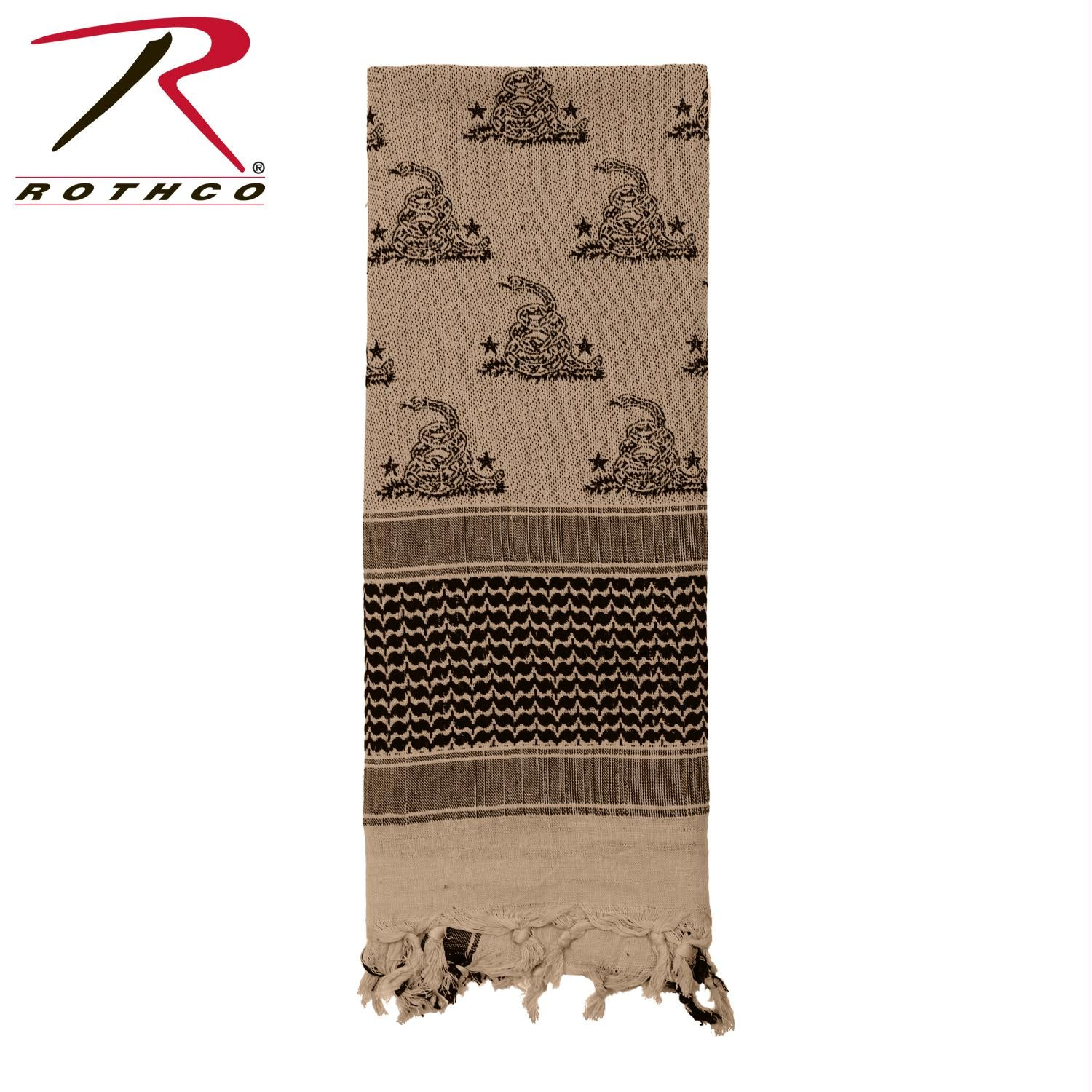 Rothco Gadsden Snake Shemagh Tactical Desert Scarf - Wholesale Army Navy 25ffaa3c4a99