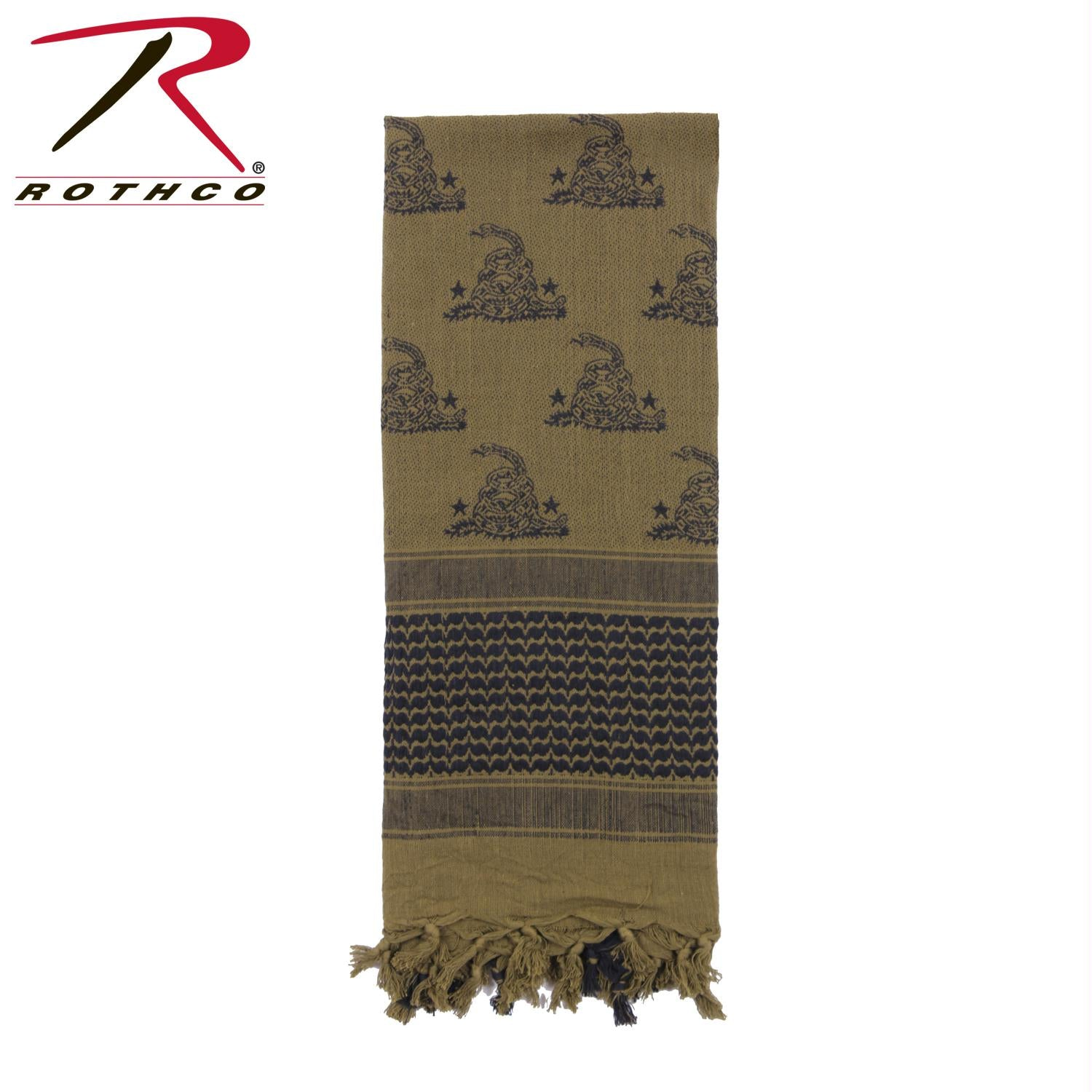 Rothco Gadsden Snake Shemagh Tactical Desert Scarf - Olive Drab