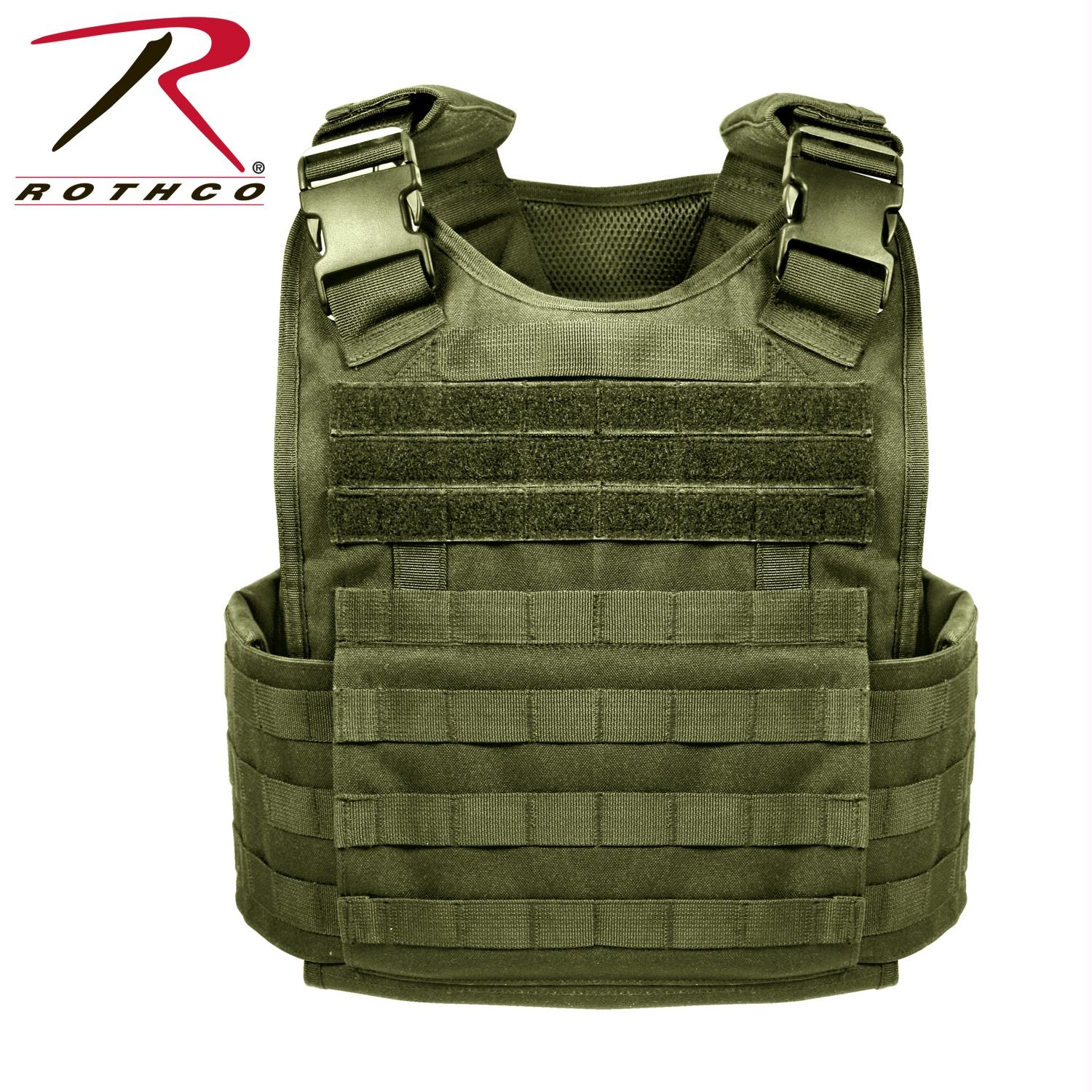 Rothco MOLLE Plate Carrier Vest - Olive Drab / Regular