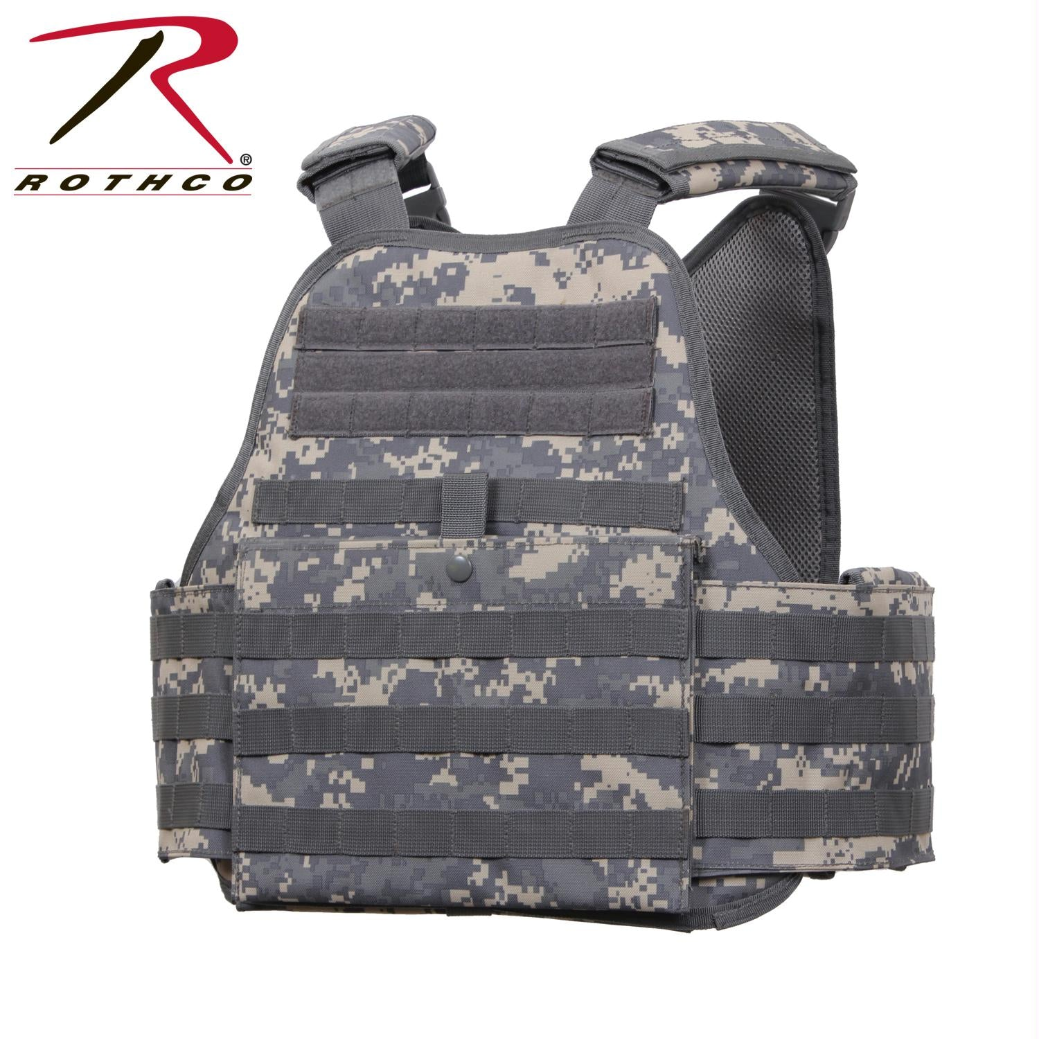 Rothco MOLLE Plate Carrier Vest - ACU Digital Camo / Regular
