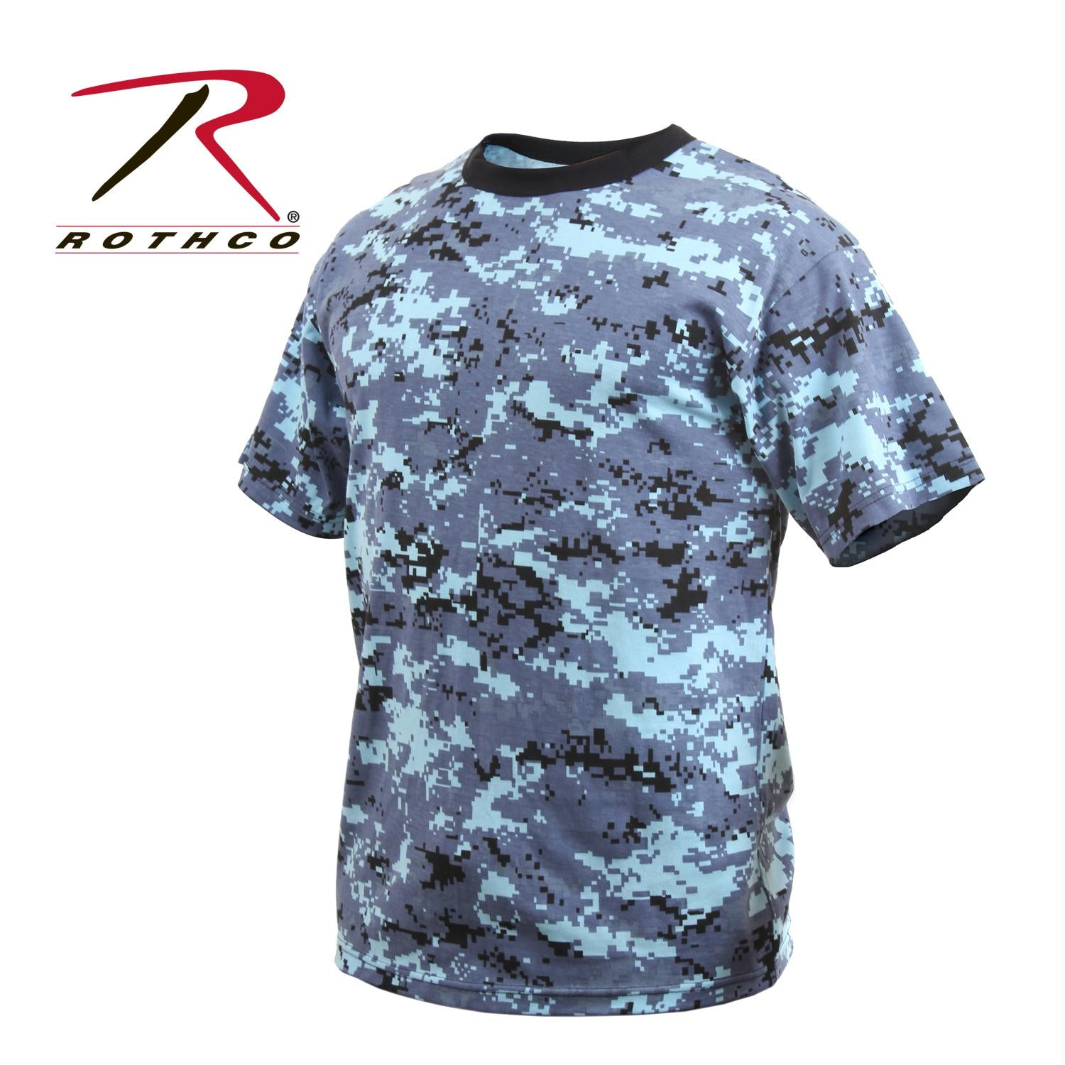 Rothco Digital Camo T-Shirt - Sky Blue Digital Camo / 4XL