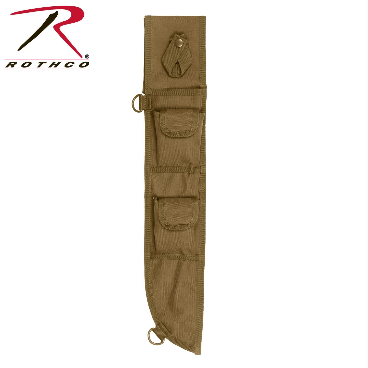 Rothco 18 Inch MOLLE Compatible Machete Sheath - Coyote Brown