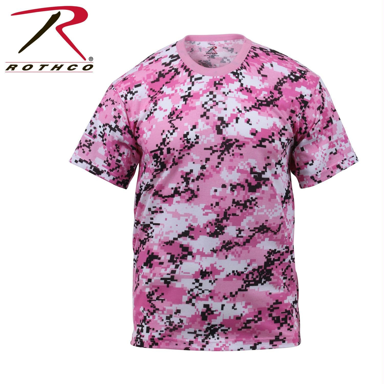 Rothco Digital Camo T-Shirt - Pink Digital Camo / L