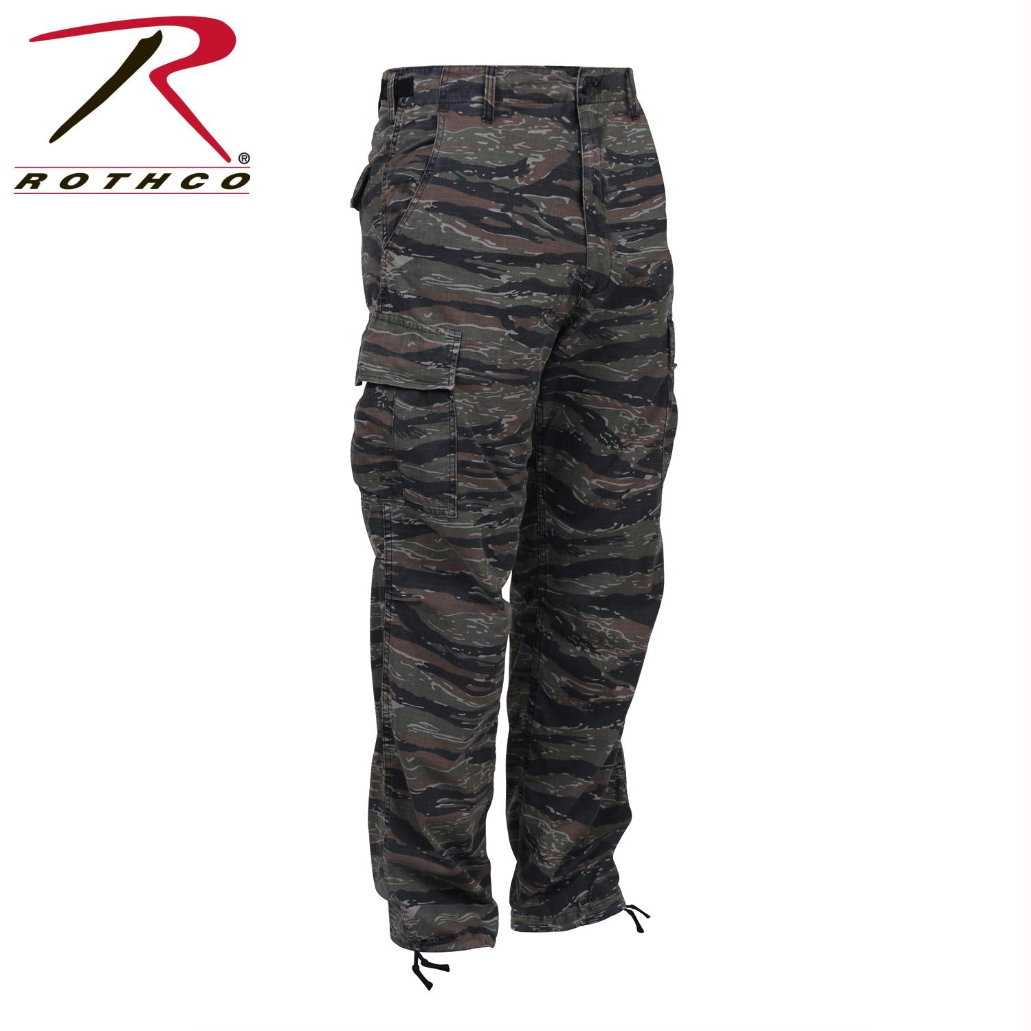 Rothco Camo Tactical BDU Pants - Tiger Stripe Camo / XL