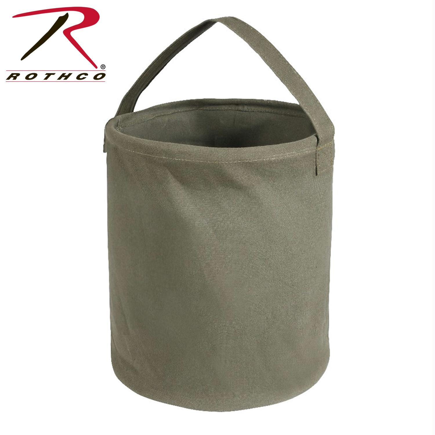 Rothco Canvas Water Bucket - Olive Drab / L
