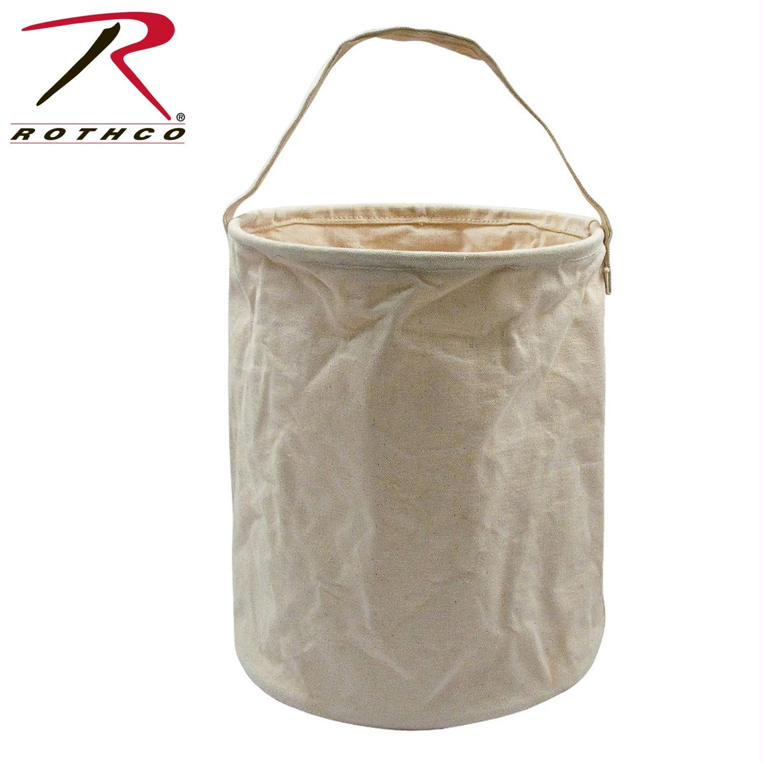 Rothco Canvas Water Bucket - Natural / M