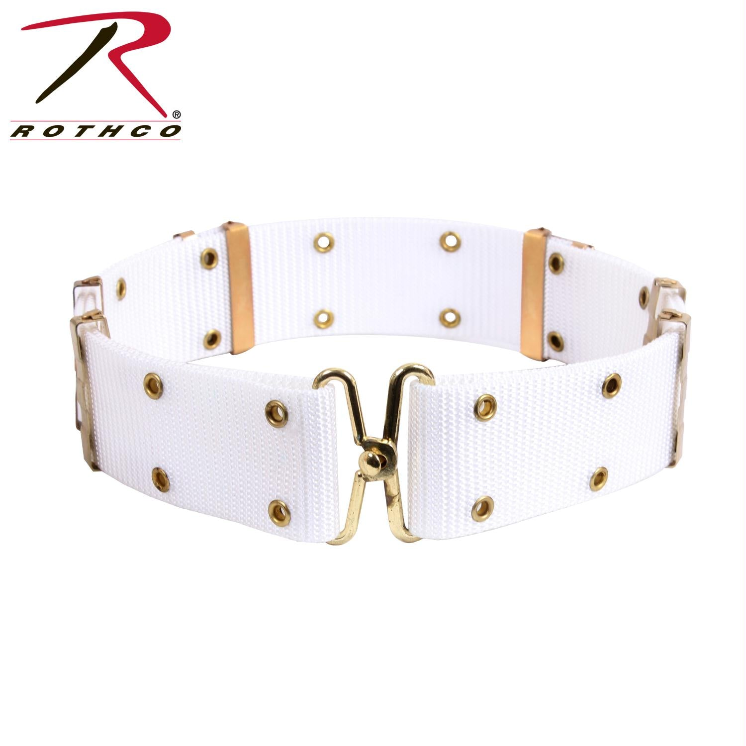 Rothco GI Style Pistol Belt With Metal Buckles - White / L