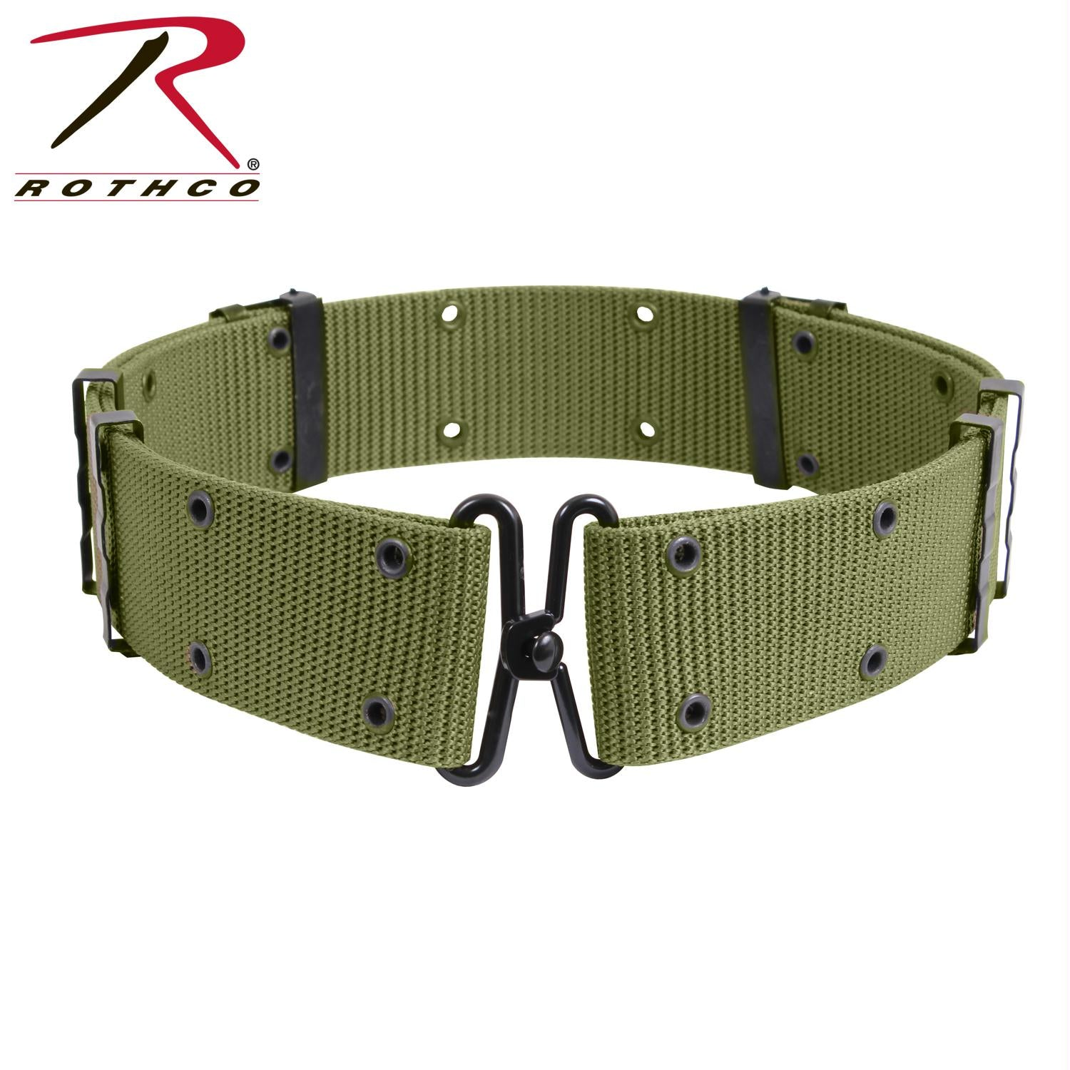 Rothco GI Style Pistol Belt With Metal Buckles - Olive Drab / L