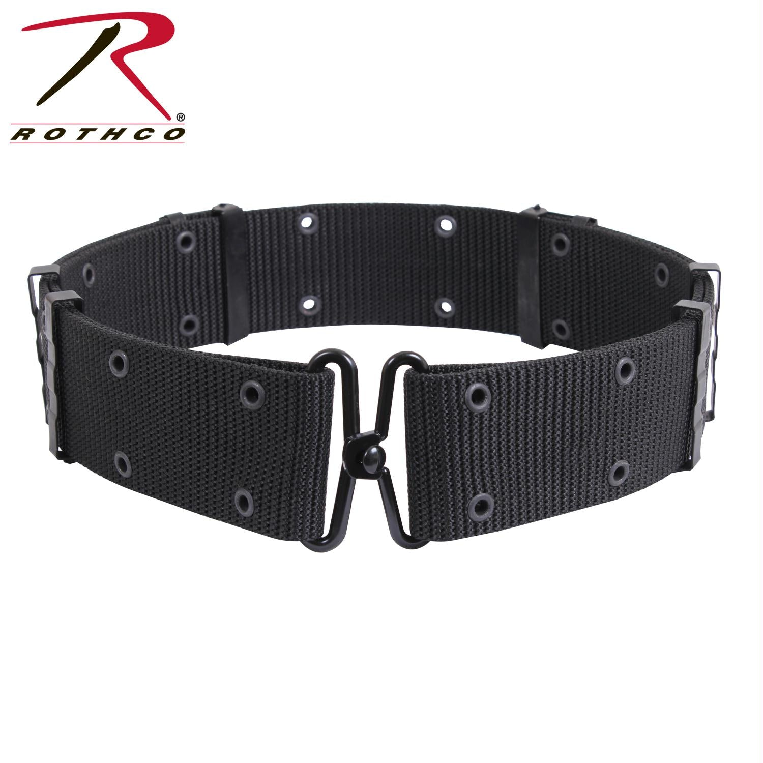 Rothco GI Style Pistol Belt With Metal Buckles - Black / L