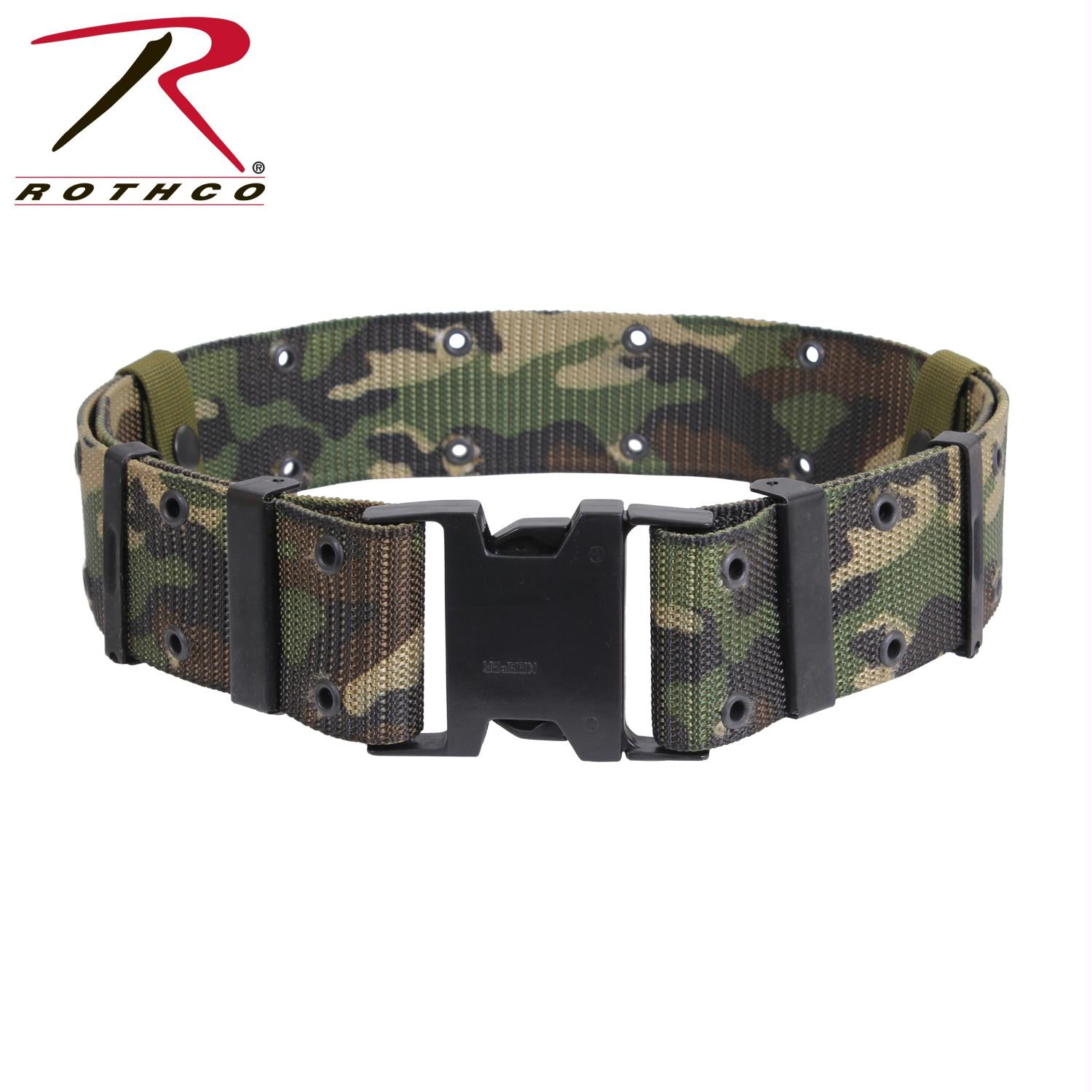 Rothco New Issue Marine Corps Style Quick Release Pistol Belts - Woodland Camo / L