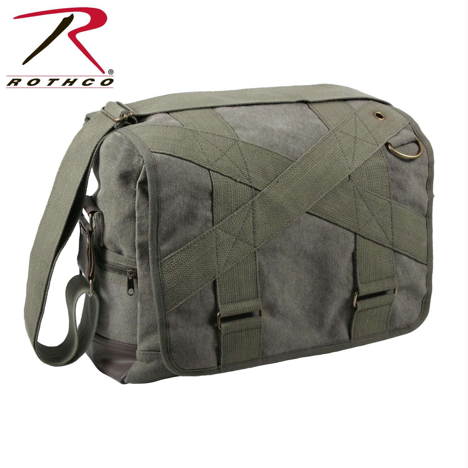Rothco Vintage Canvas Outback Messenger Bag - Olive Drab
