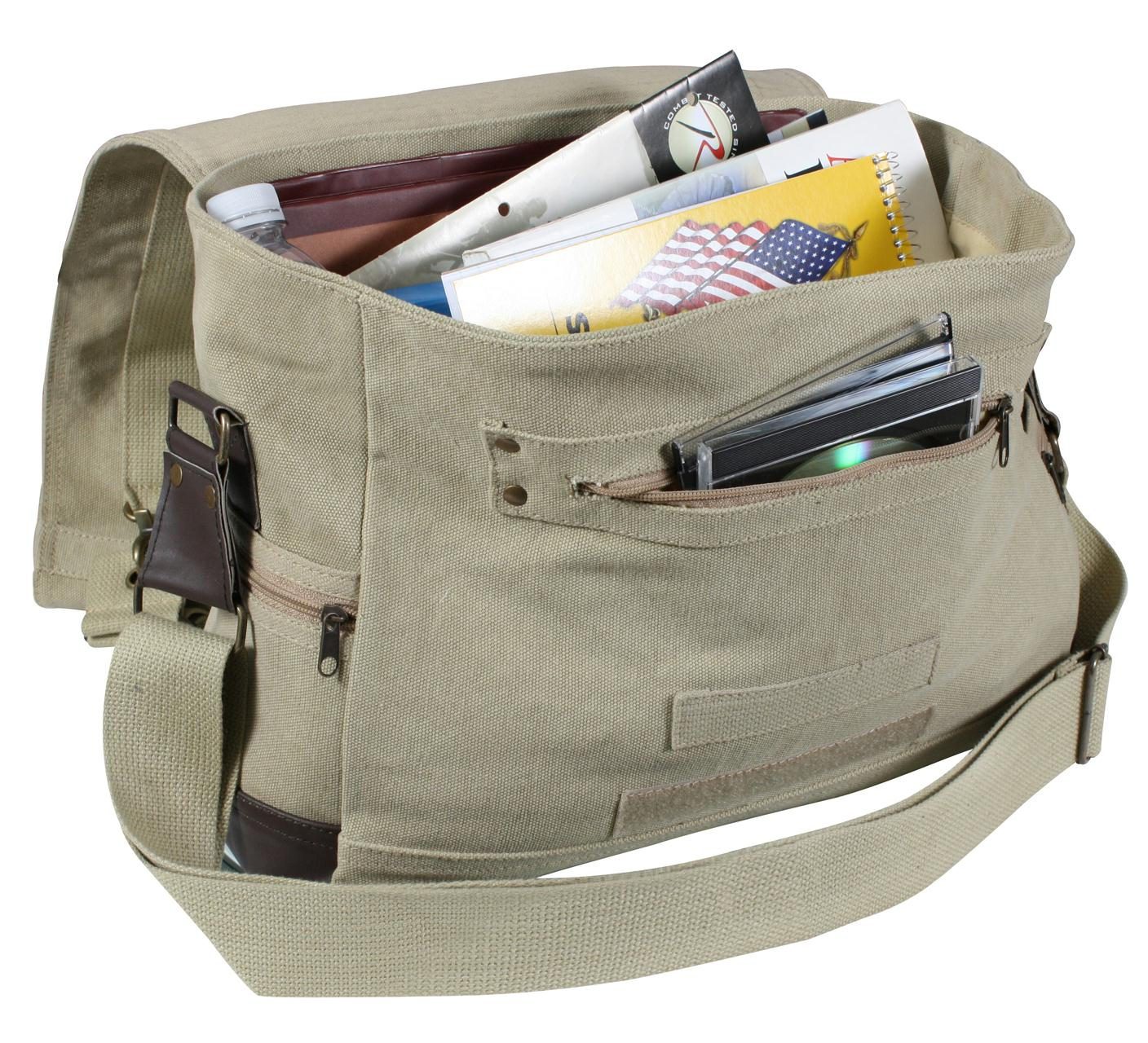 Rothco Vintage Canvas Outback Messenger Bag