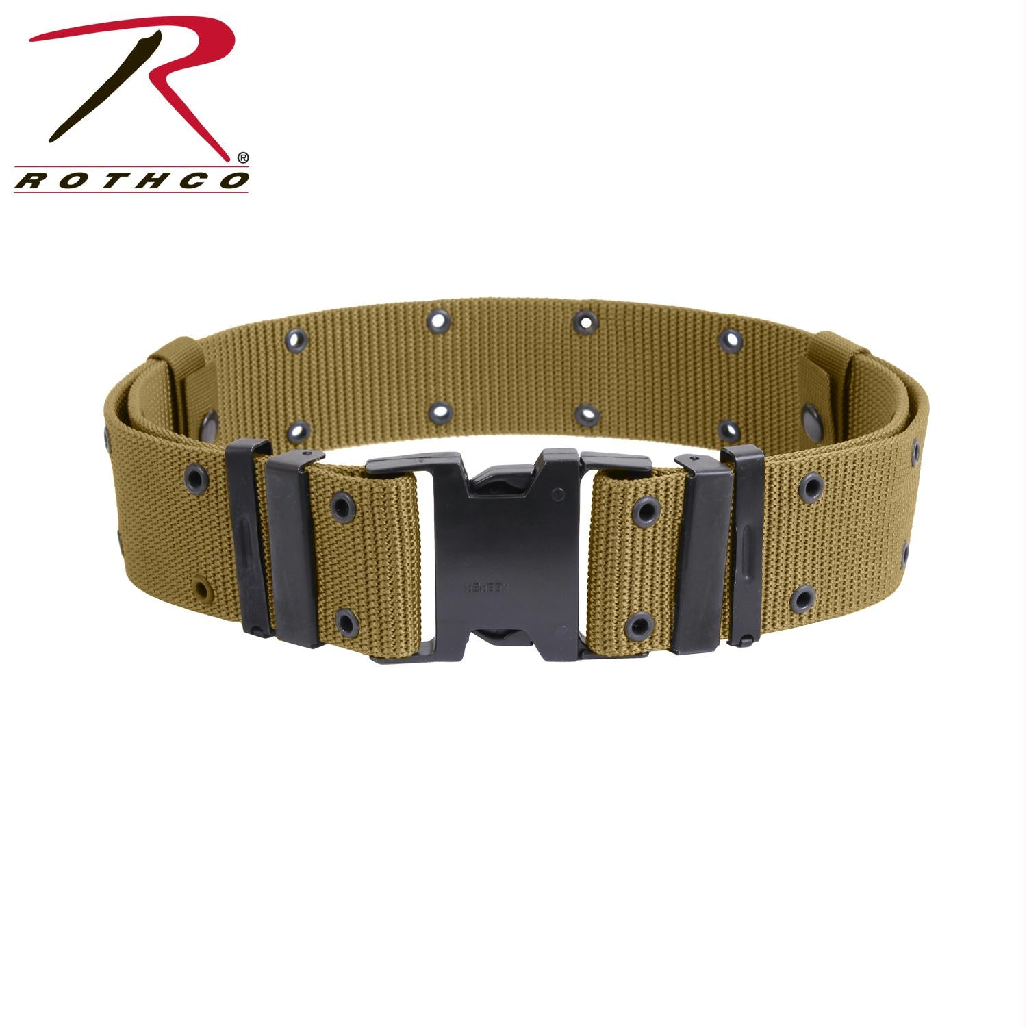 Rothco New Issue Marine Corps Style Quick Release Pistol Belts - Coyote Brown / L