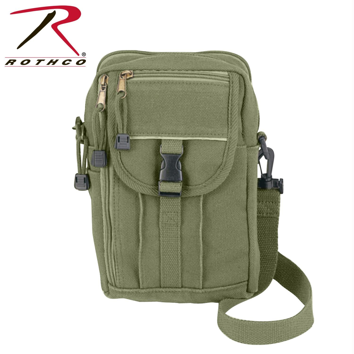 Rothco Heavyweight Canvas Classic Passport Travel Pouch - Olive Drab