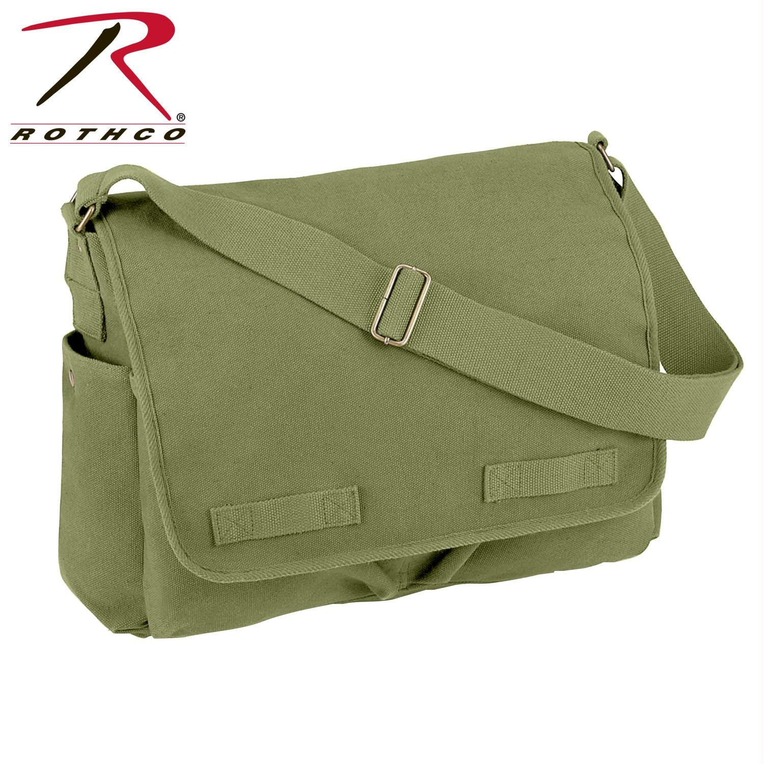 Rothco Vintage Unwashed Canvas Messenger Bag - Olive Drab