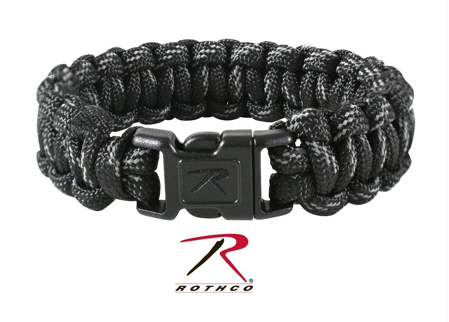 Rothco Black w/ Reflective Paracord Bracelet - 9 Inches