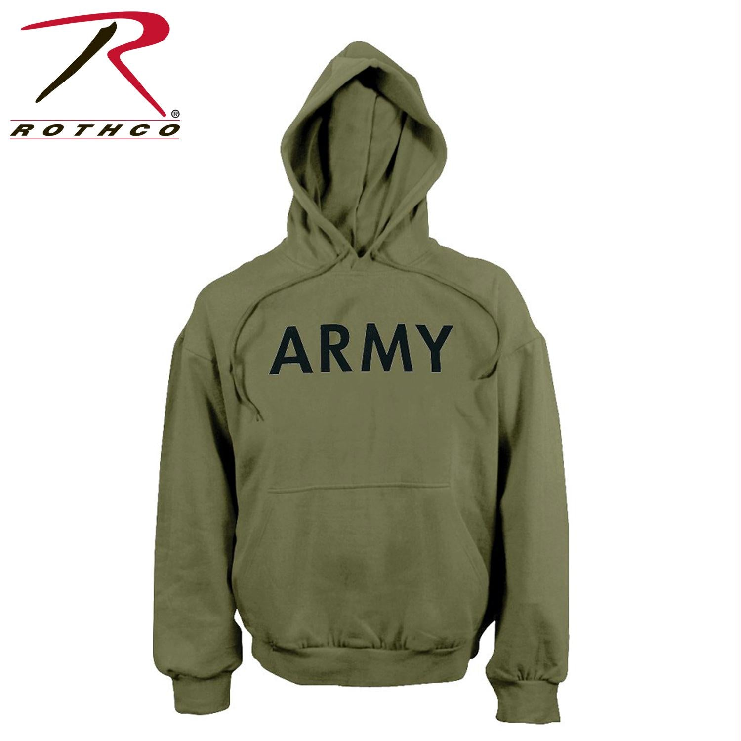 Rothco Army PT Pullover Hooded Sweatshirt - Olive Drab / XL