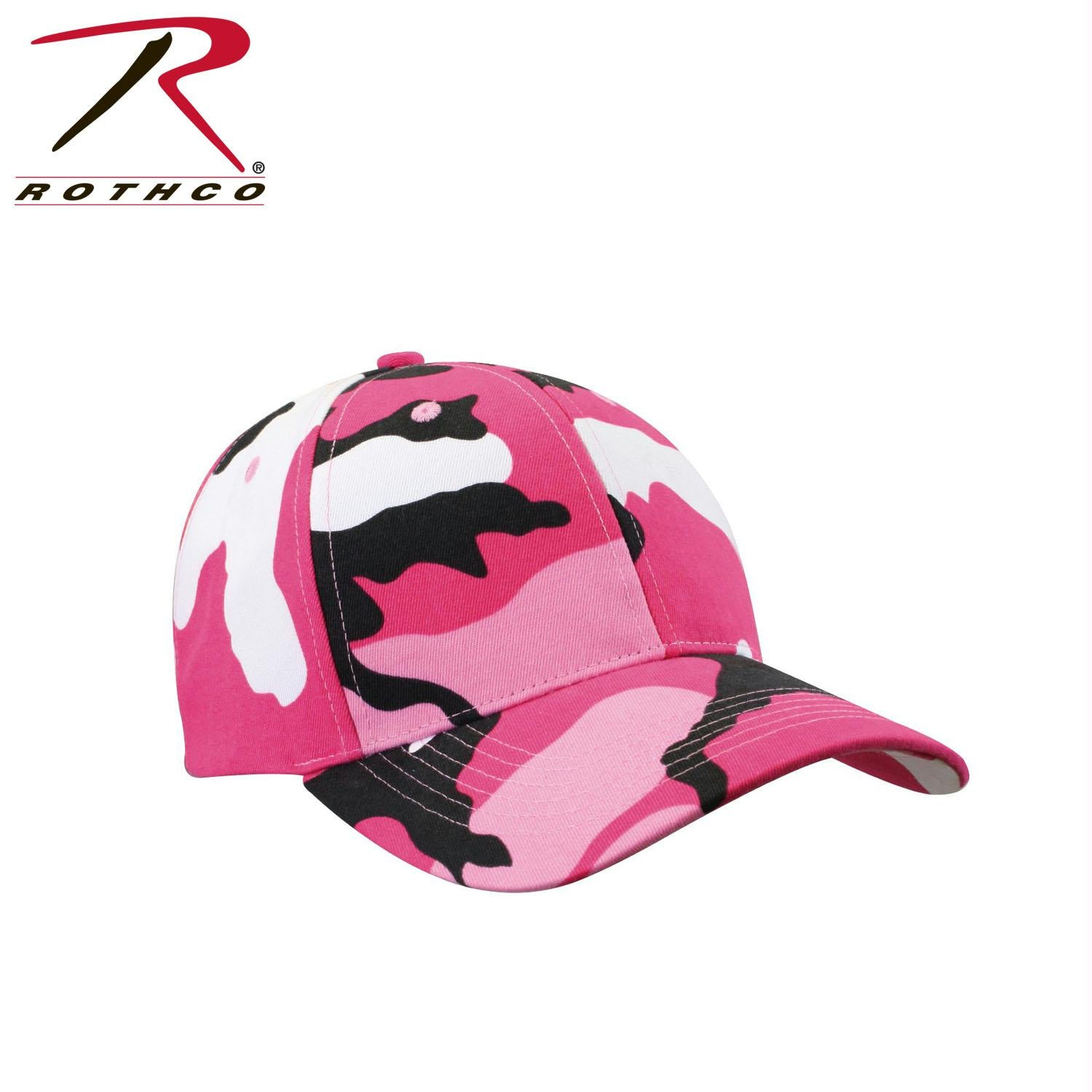 Rothco Supreme Camo Low Profile Cap - Pink Camo / One Size