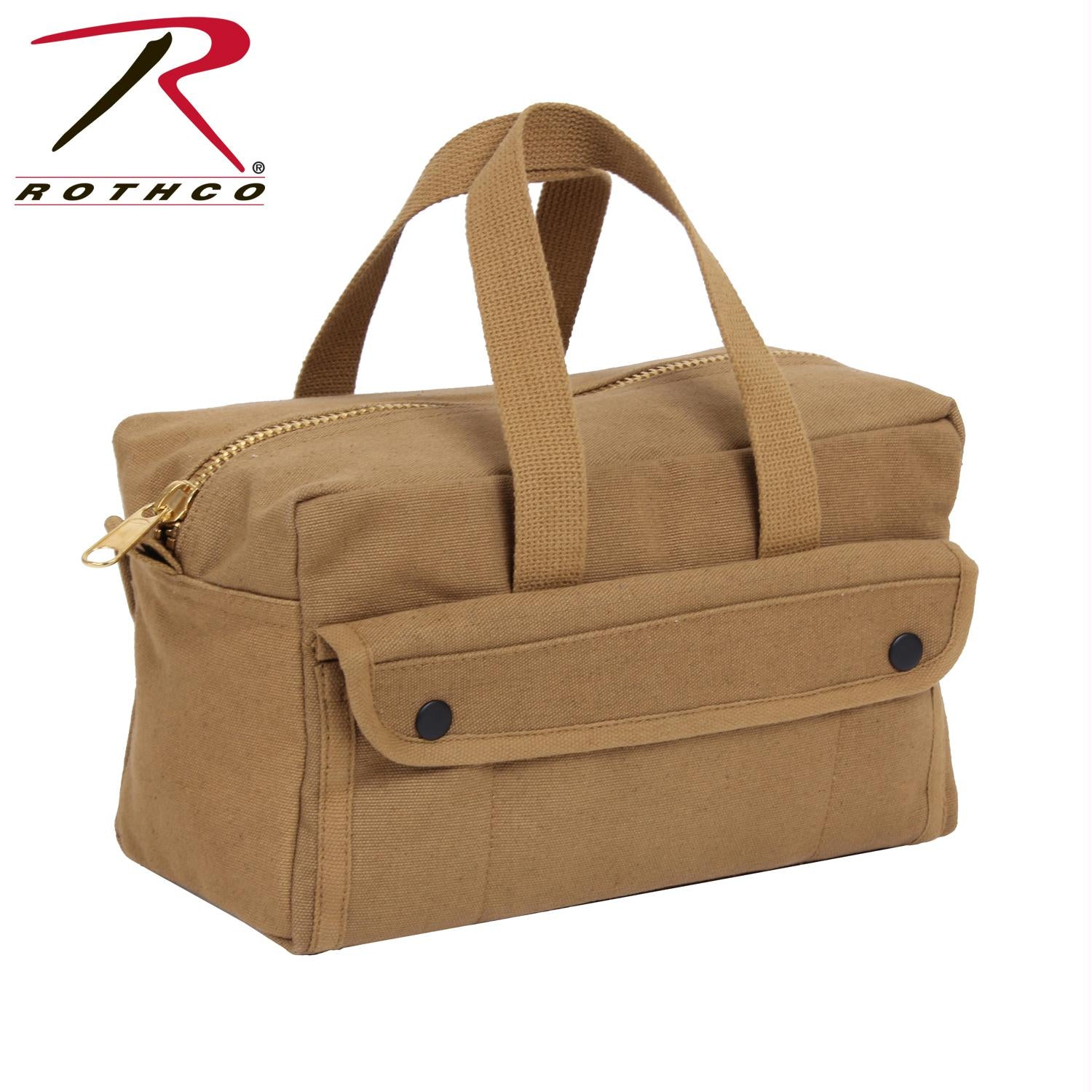 Rothco G.I. Type Mechanics Tool Bag With Brass Zipper - Coyote Brown