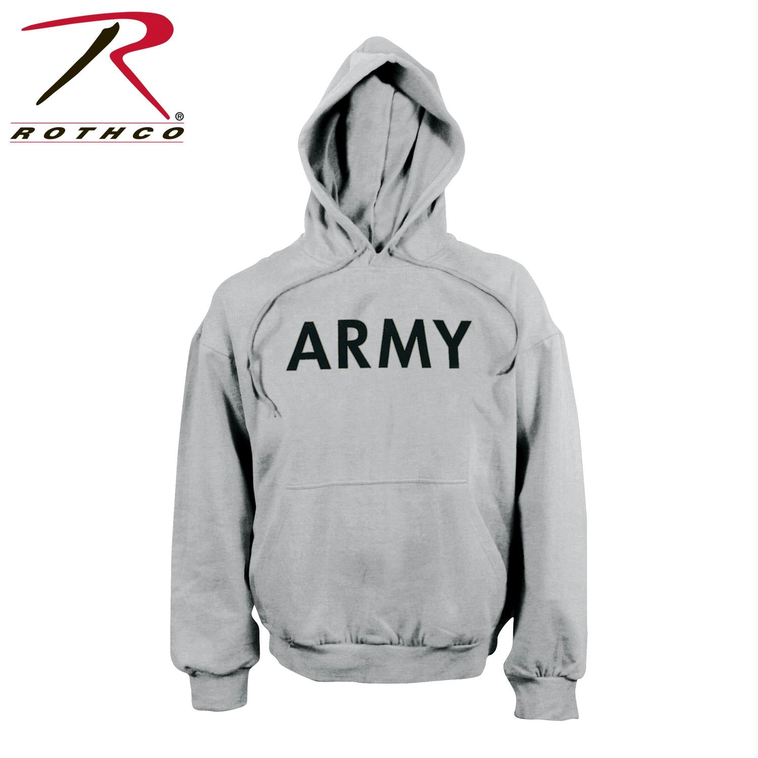 Rothco Army PT Pullover Hooded Sweatshirt - Grey / M