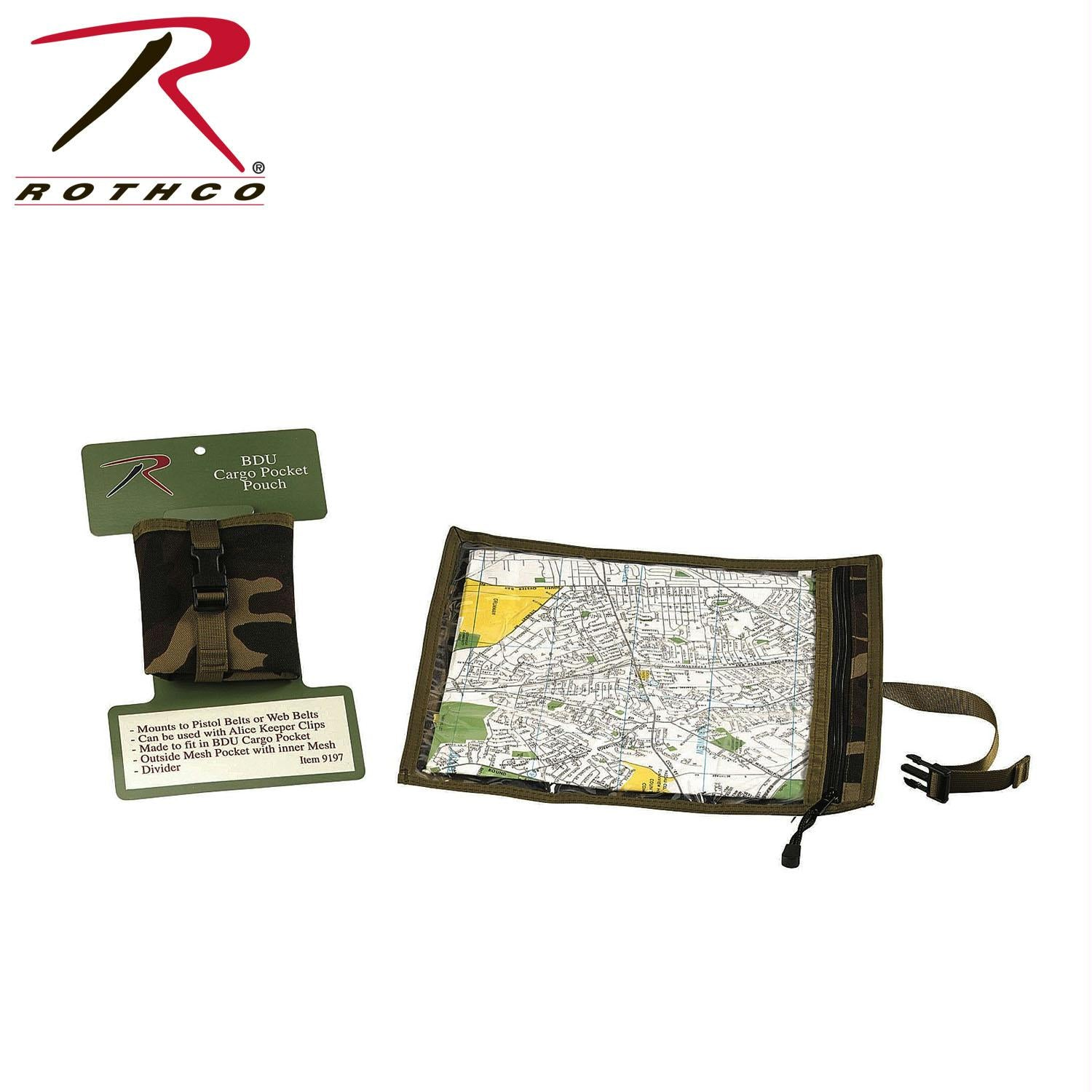 Rothco Map and Document Case - Woodland Camo