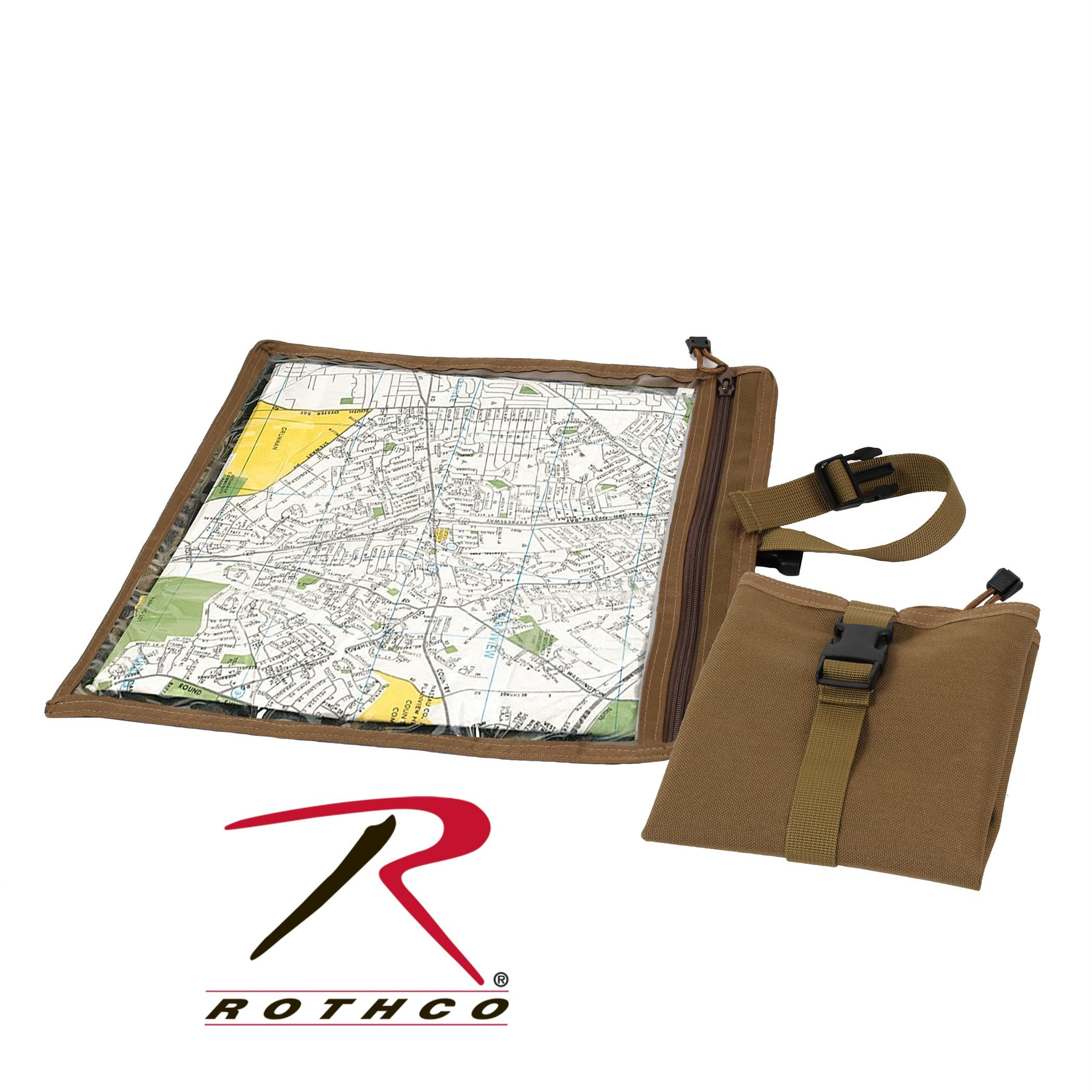 Rothco Map and Document Case - Coyote Brown