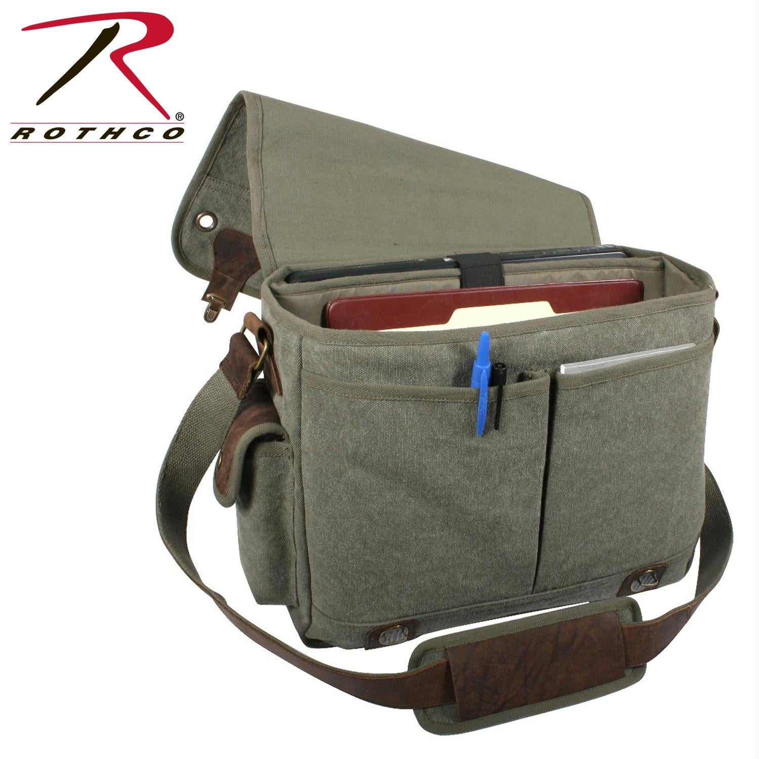 Rothco Canvas Trailblazer Laptop Bag - Olive Drab